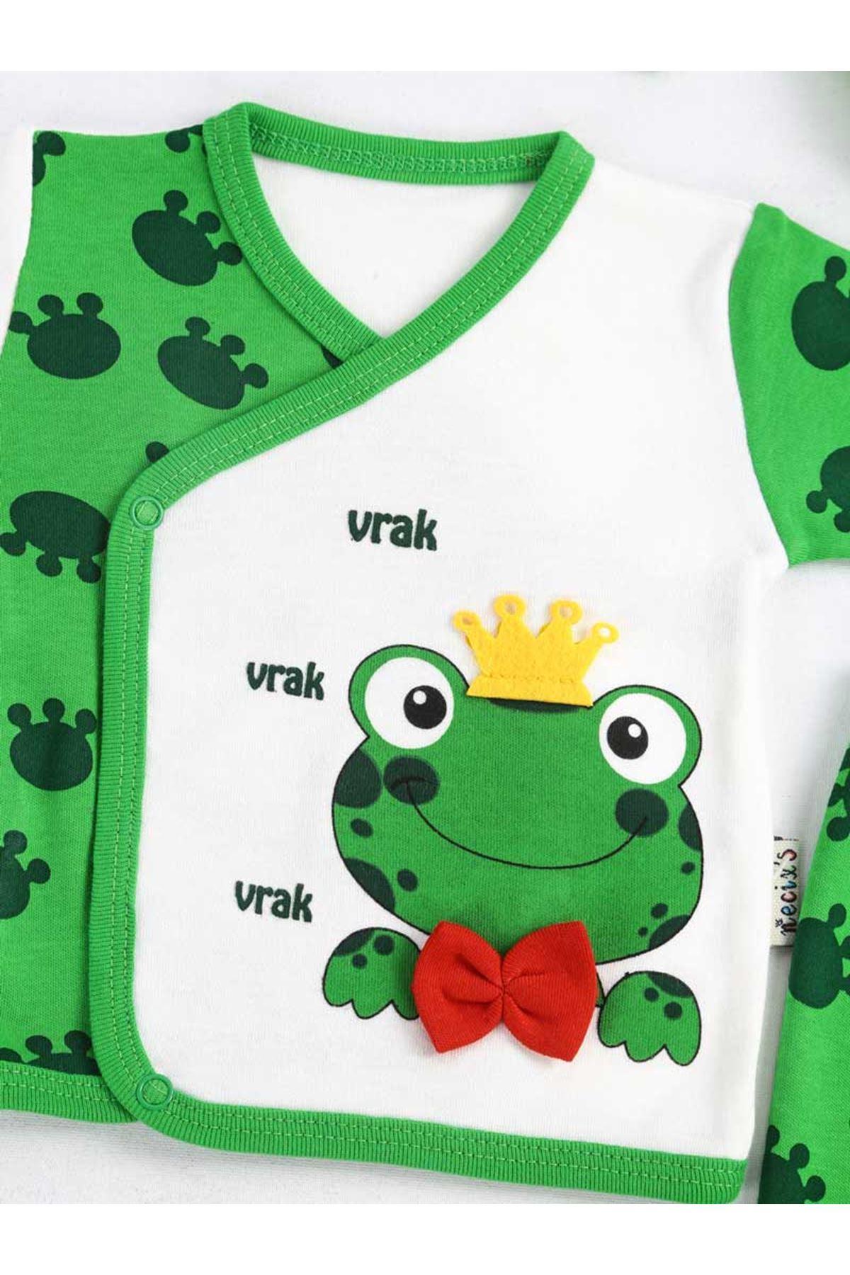 Yeşil Yenidoğan 5 li Bebek Zıbın Seti