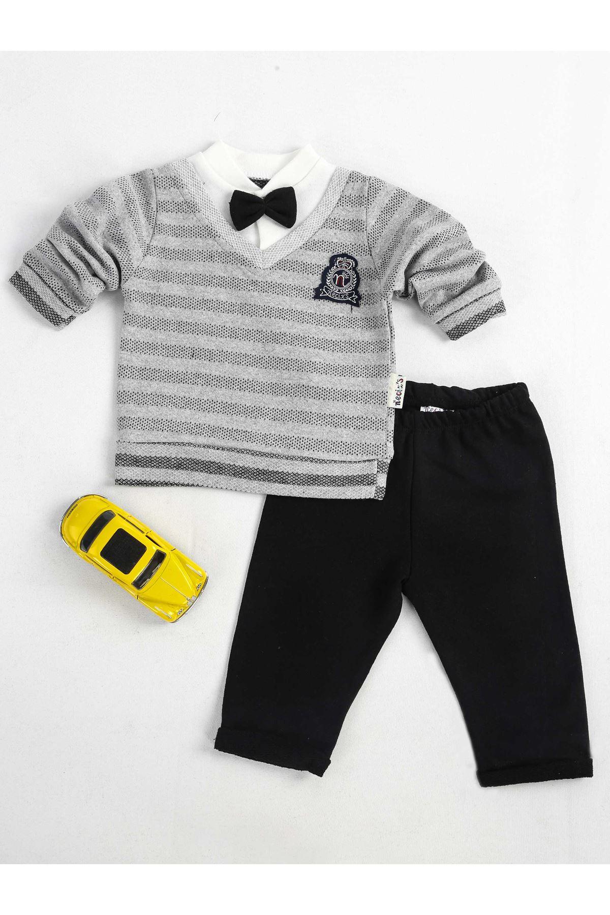 Gri Siyah Erkek Bebek 2 li Takım