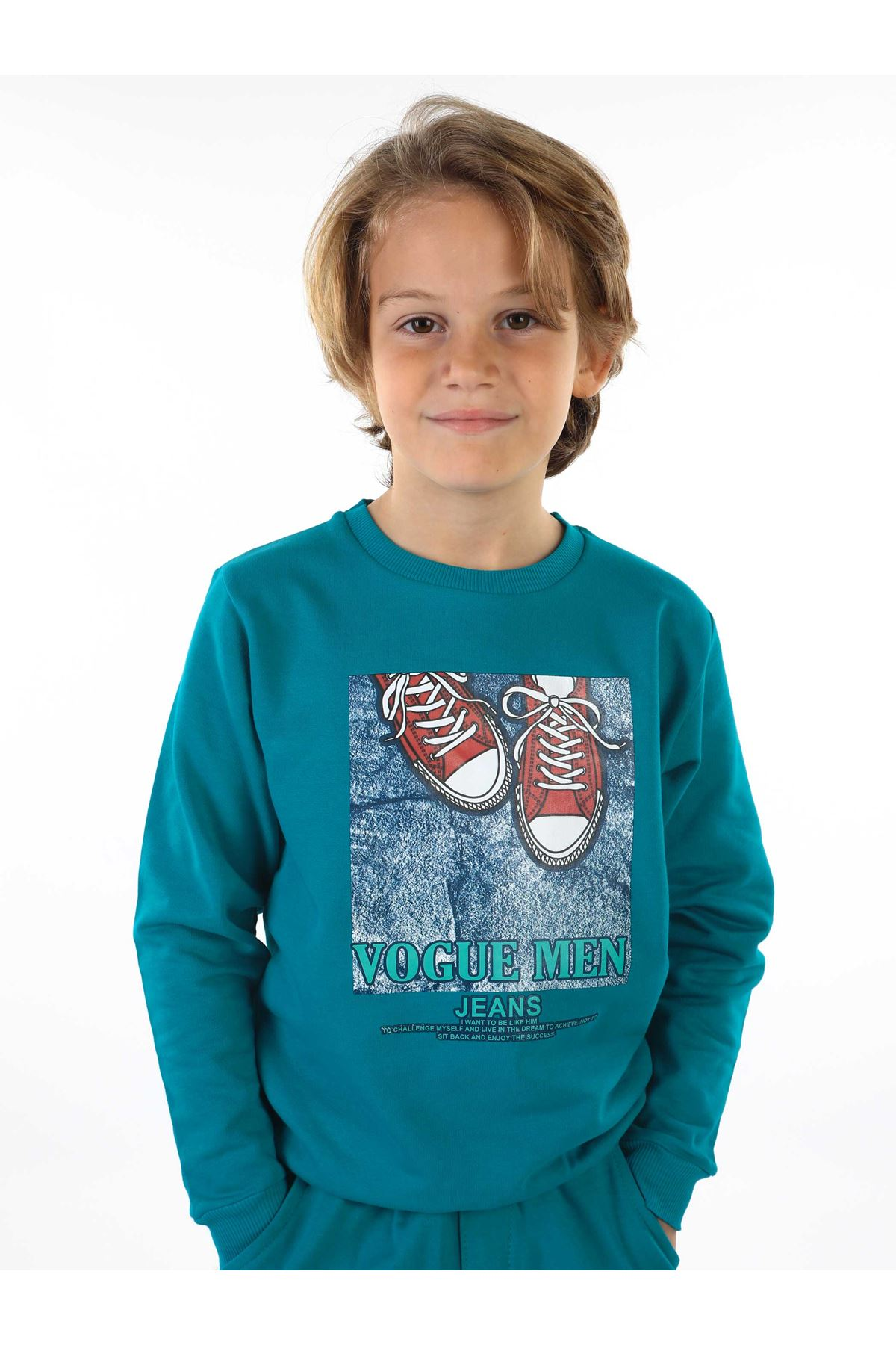 Oil Green Seasonal Male Child Sweatshirt