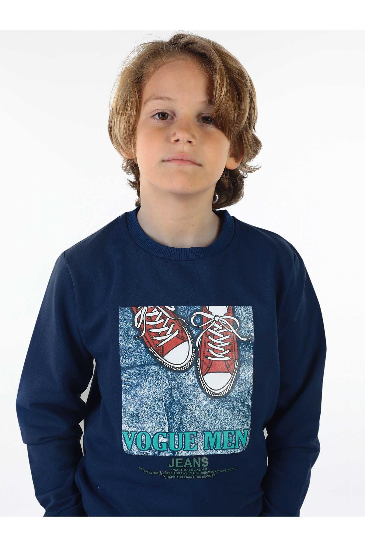 İndigo Mevsimlik Erkek Çocuk Sweatshirt
