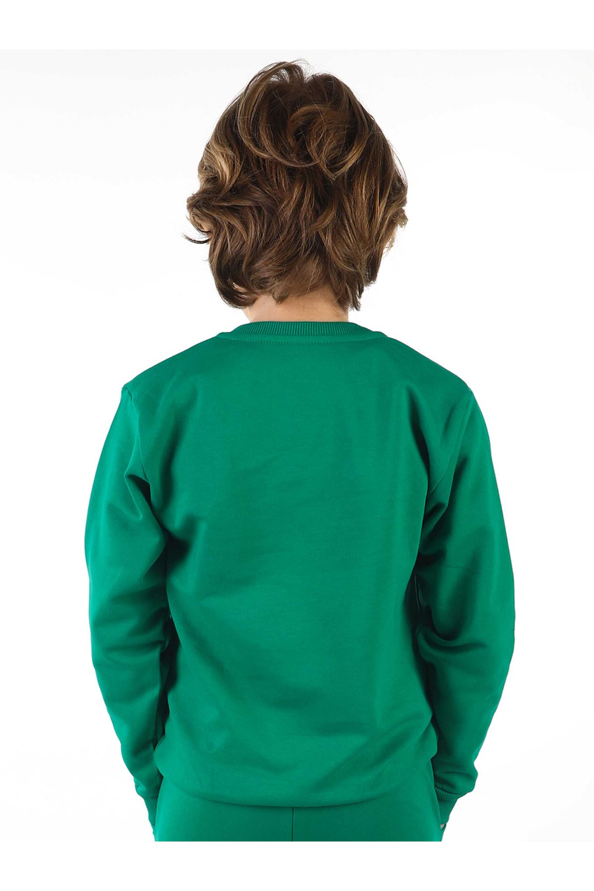 Green Seasonal Male Child Sweatshirt