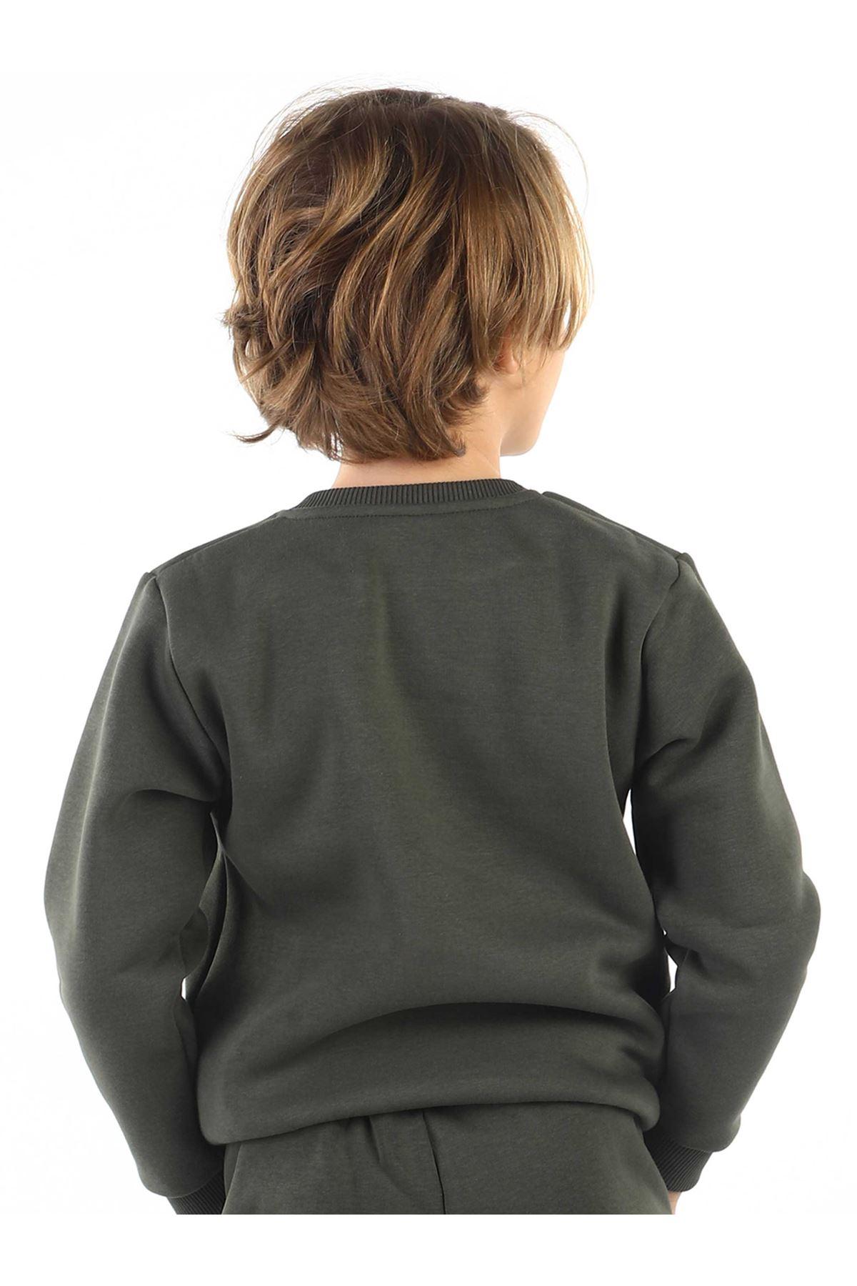 Haki Kışlık Erkek Çocuk Sweatshirt