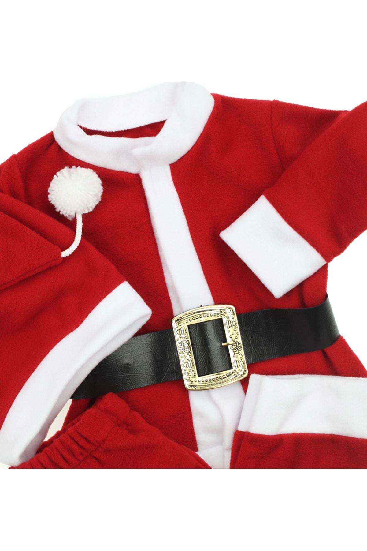 Erkek Bebek Noel Baba Kostüm