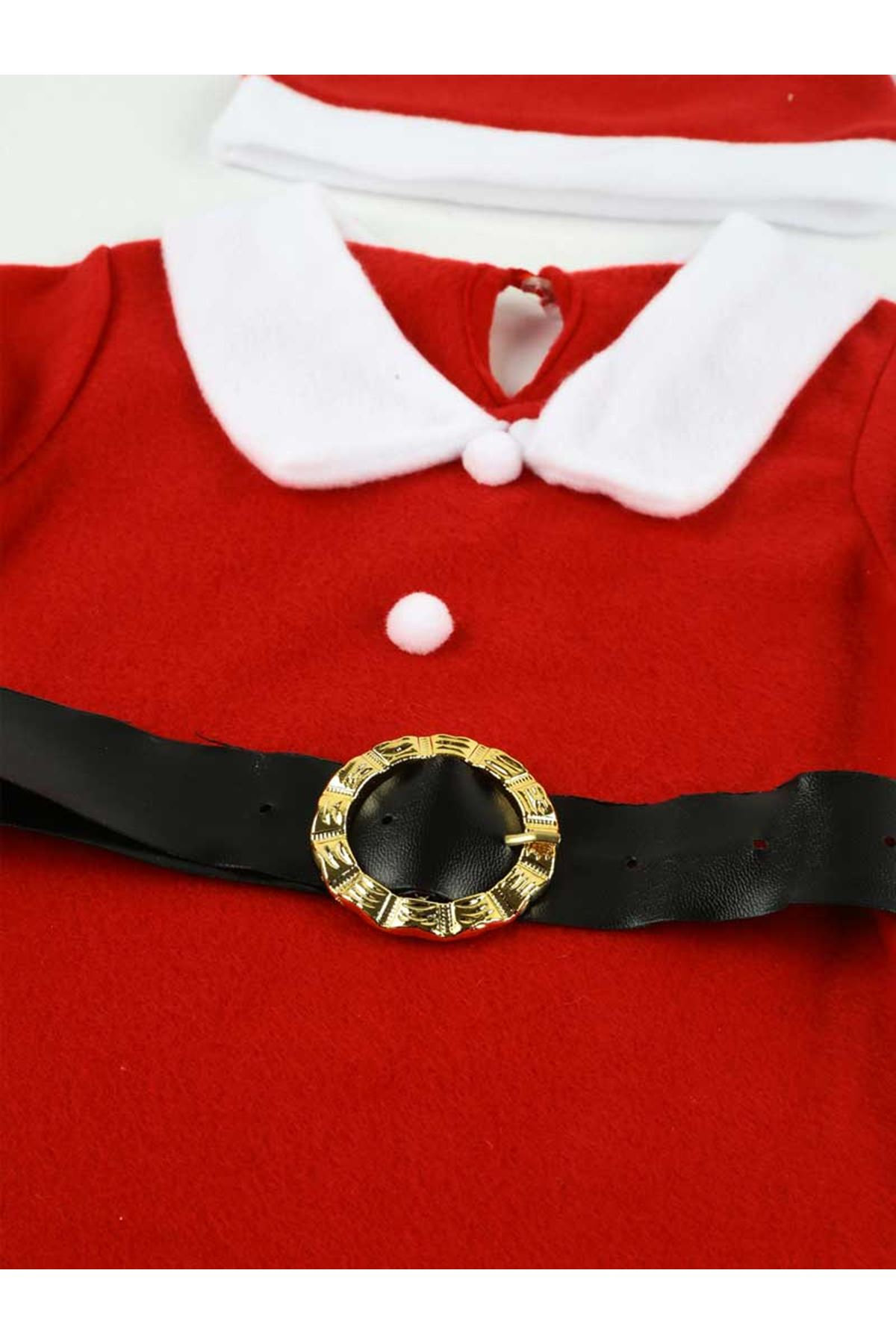 Girl Kids Santa Claus Soft Fleece Christmas Costume Children Style Special Day Outfit Santa Claus Model