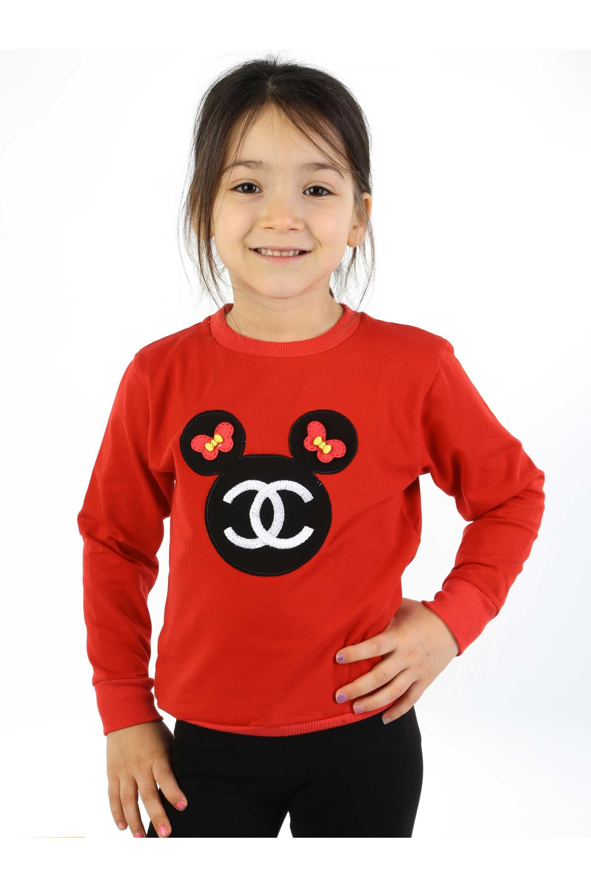 Red Black 2 Piece Female Child The Tights suit