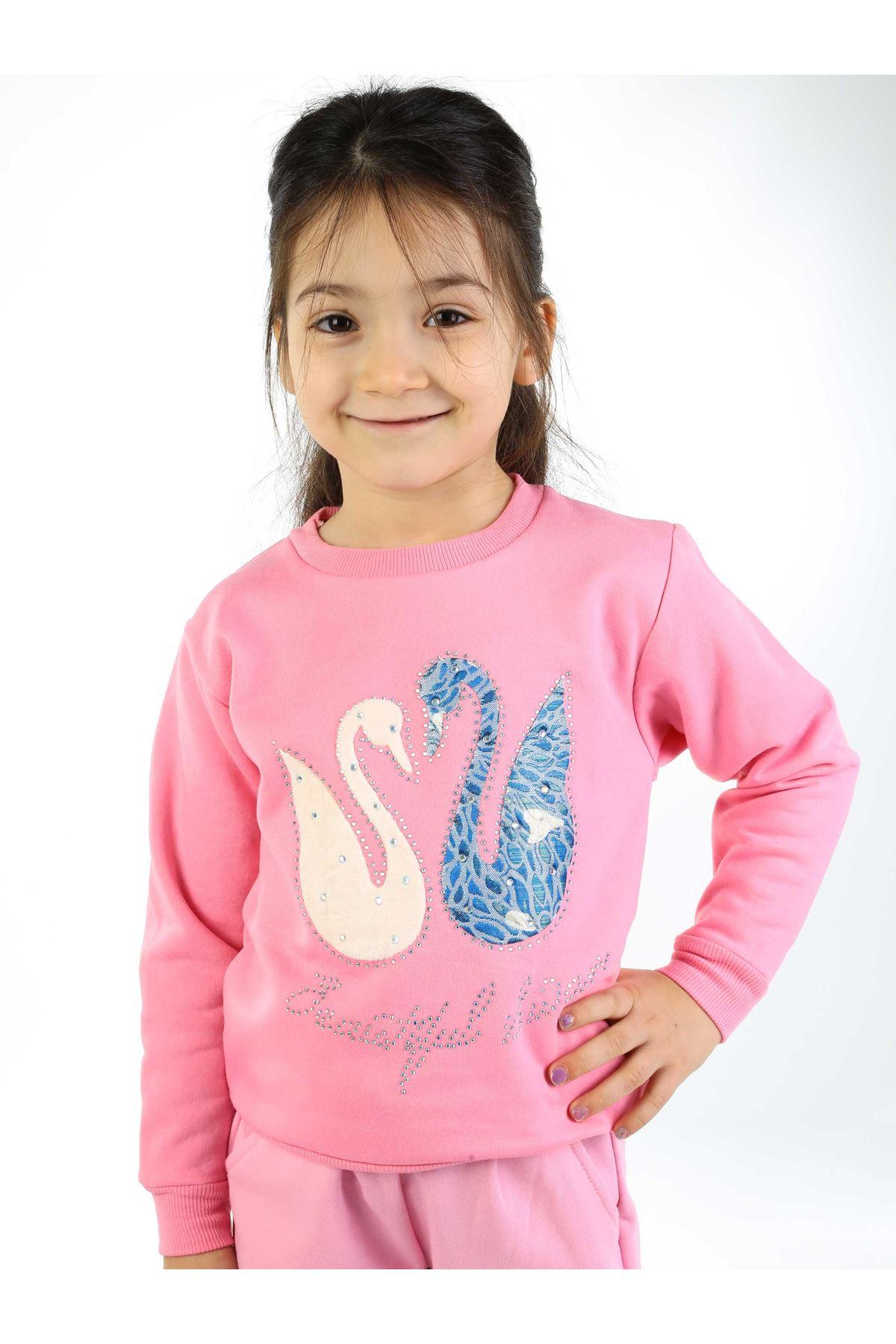 Açık Pembe Mevsimlik Kız Çocuk Sweatshirt