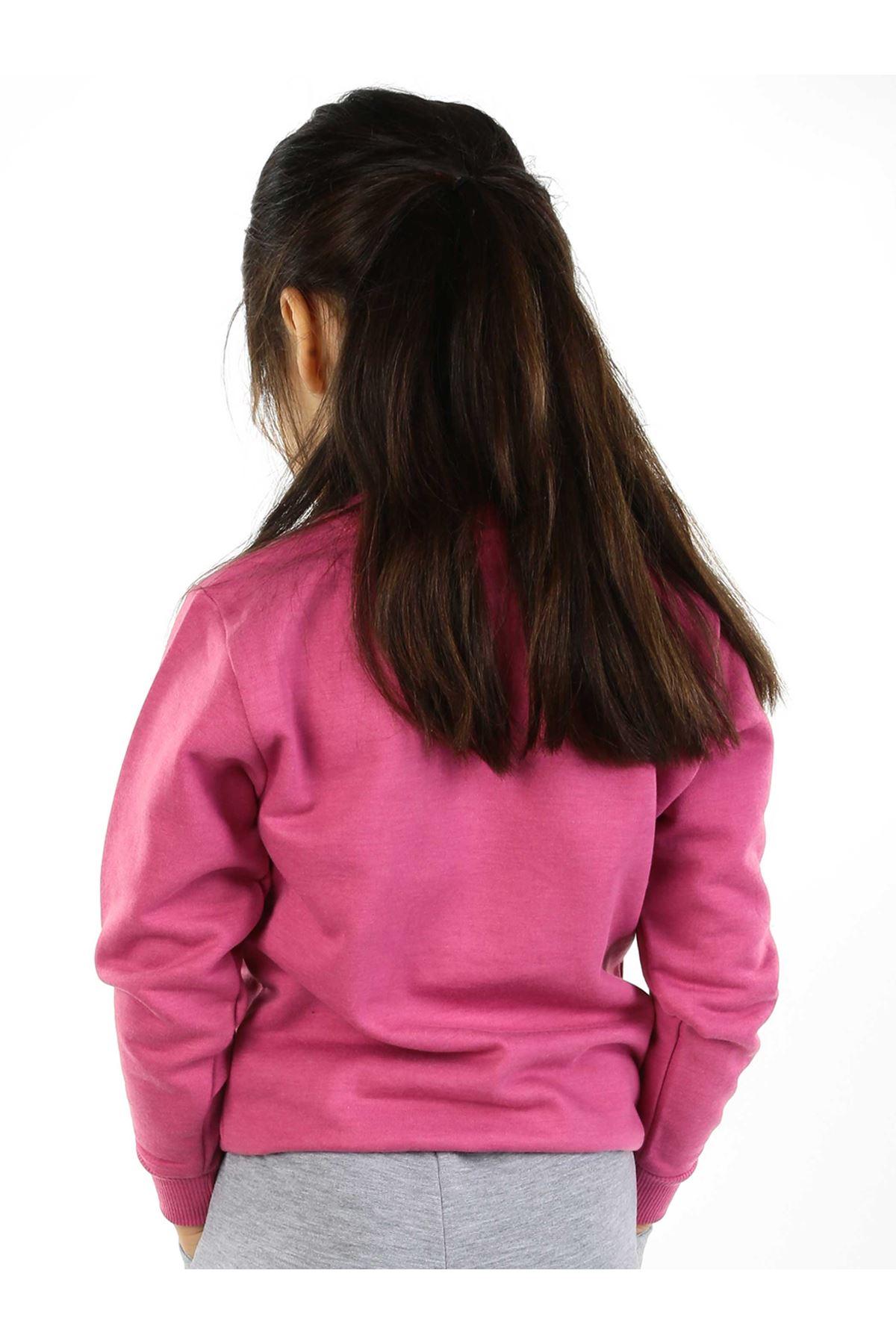 Lila Mevsimlik Kız Çocuk Sweatshirt