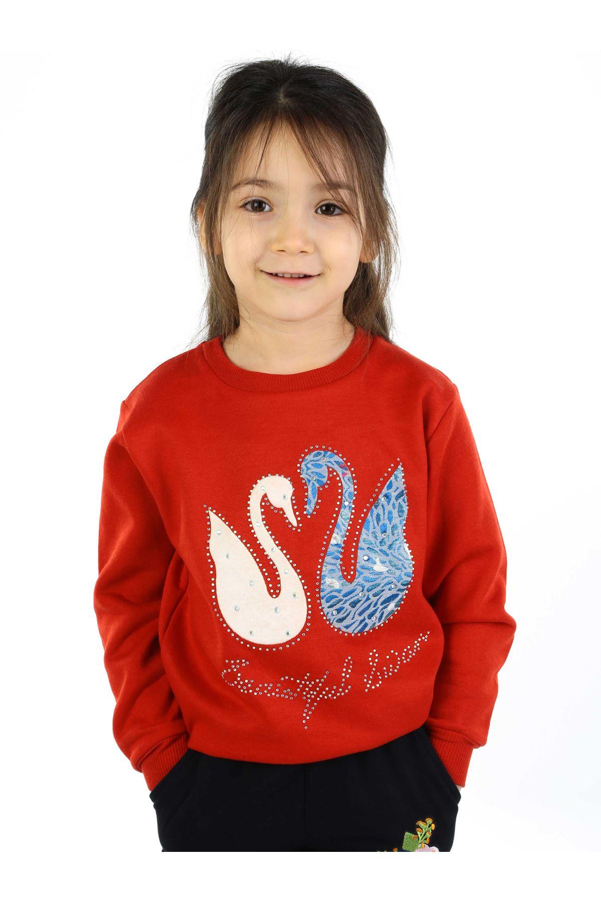 Red Seasonal Girl Child Sweatshirt