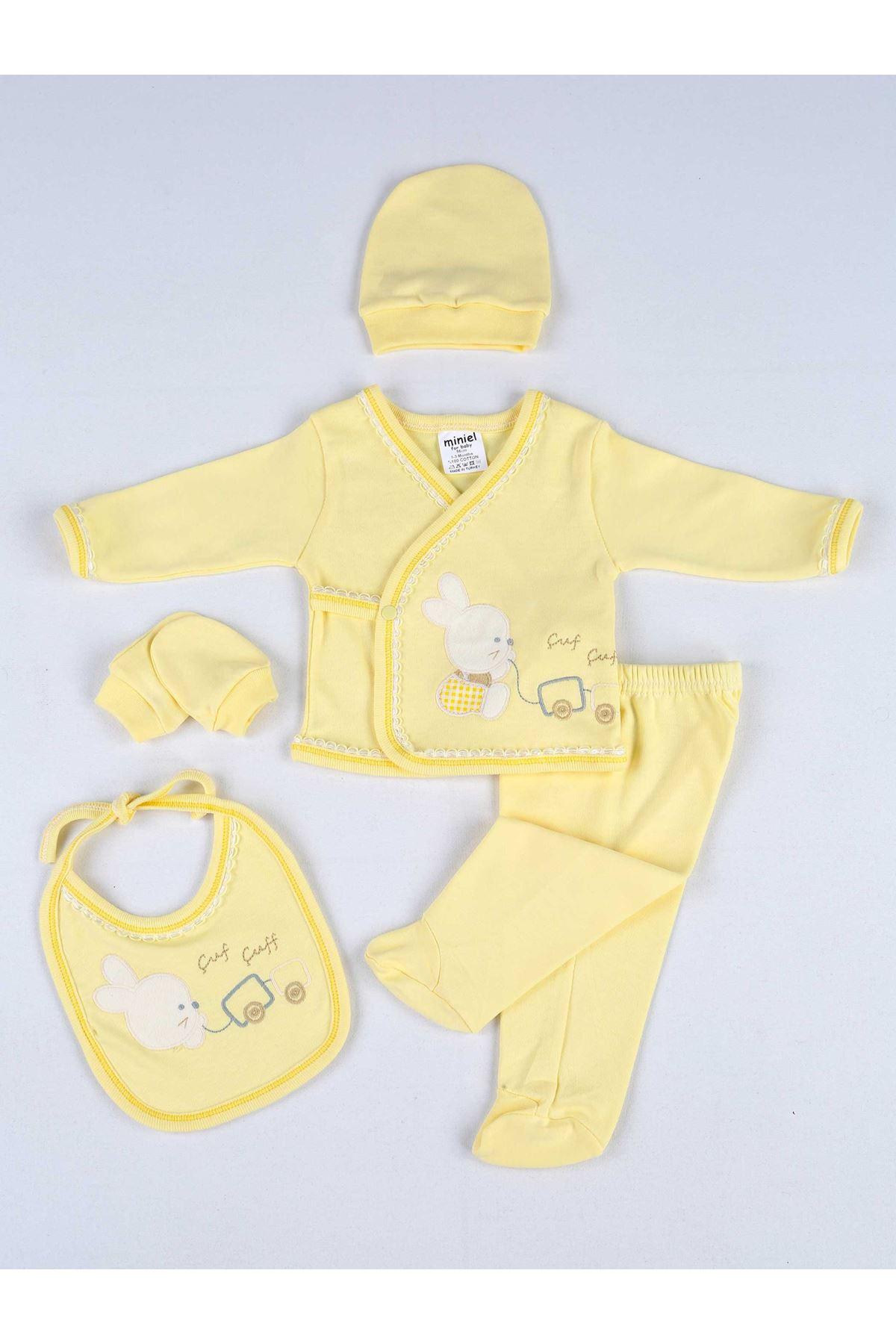 Sarı Yenidoğan Erkek Bebek 5li Hastane Çıkışı