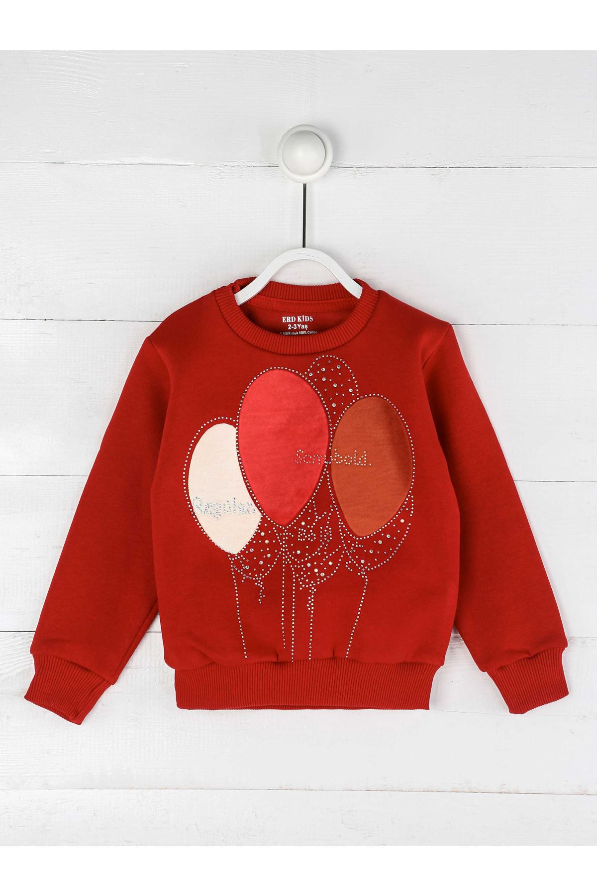 Red Winter Girl Sweatshirt