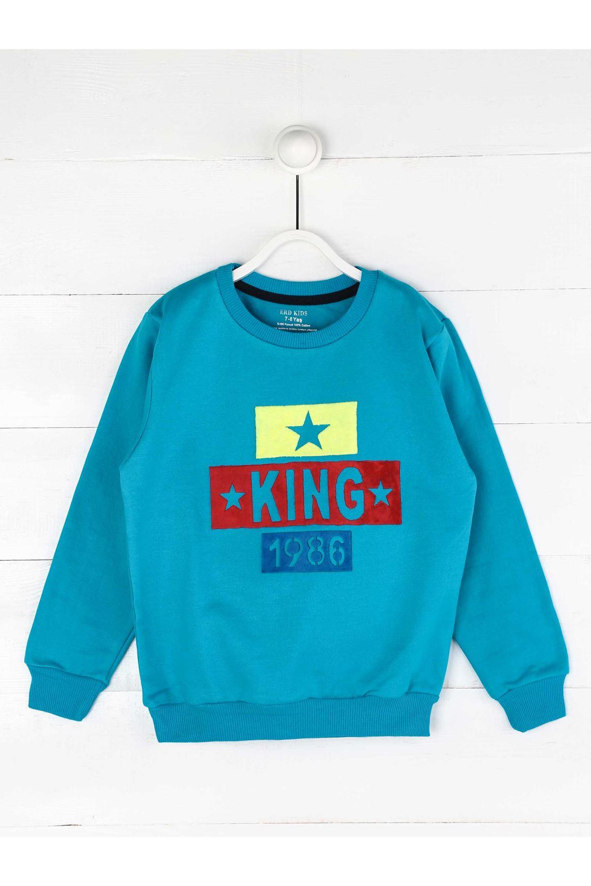 Turquoise Seasonal Male Child Sweatshirt
