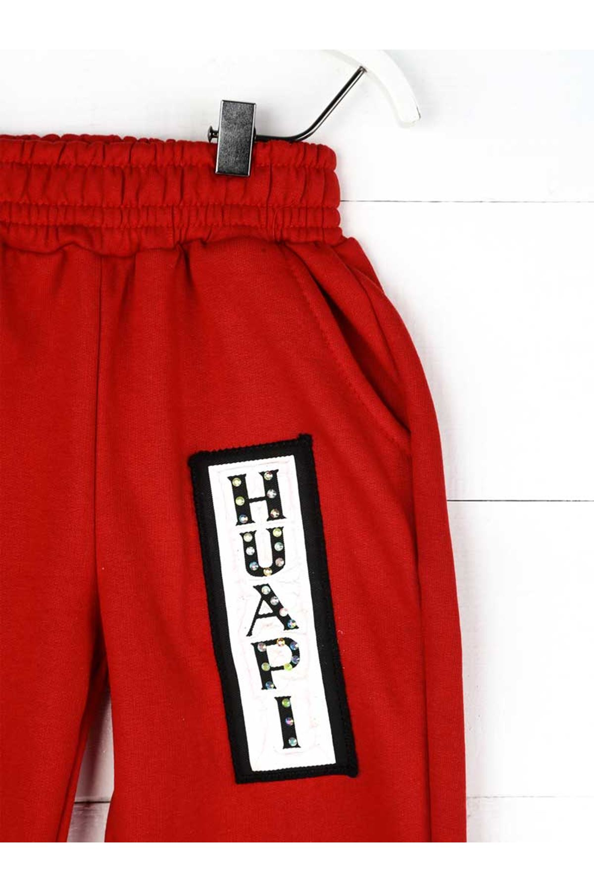 Kırmızı Kışlık Kız Çocuk Eşofman Altı
