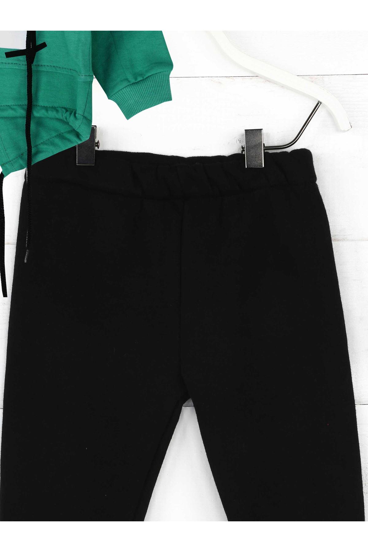 Yeşil Siyah Mevsimlik Erkek Çocuk 2li Takım