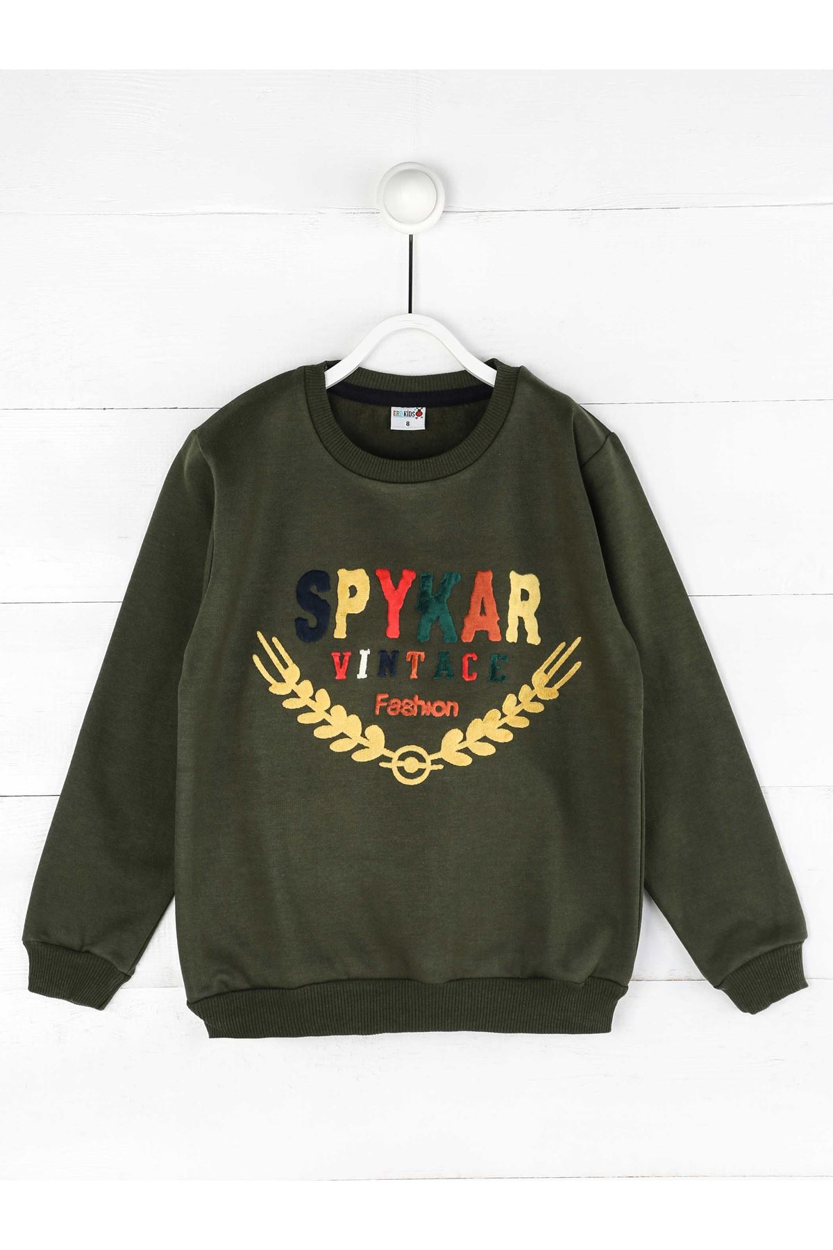 Khaki Winterisation Male Child Sweatshirt