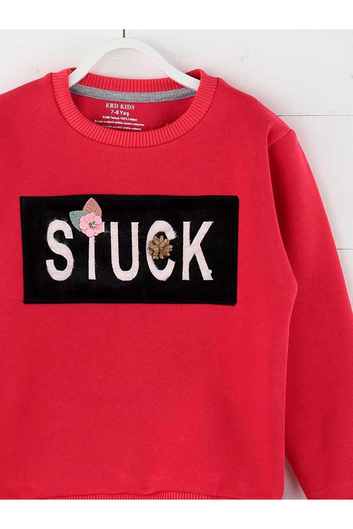 Grenadine red Winter Girls Children Sweatshirts