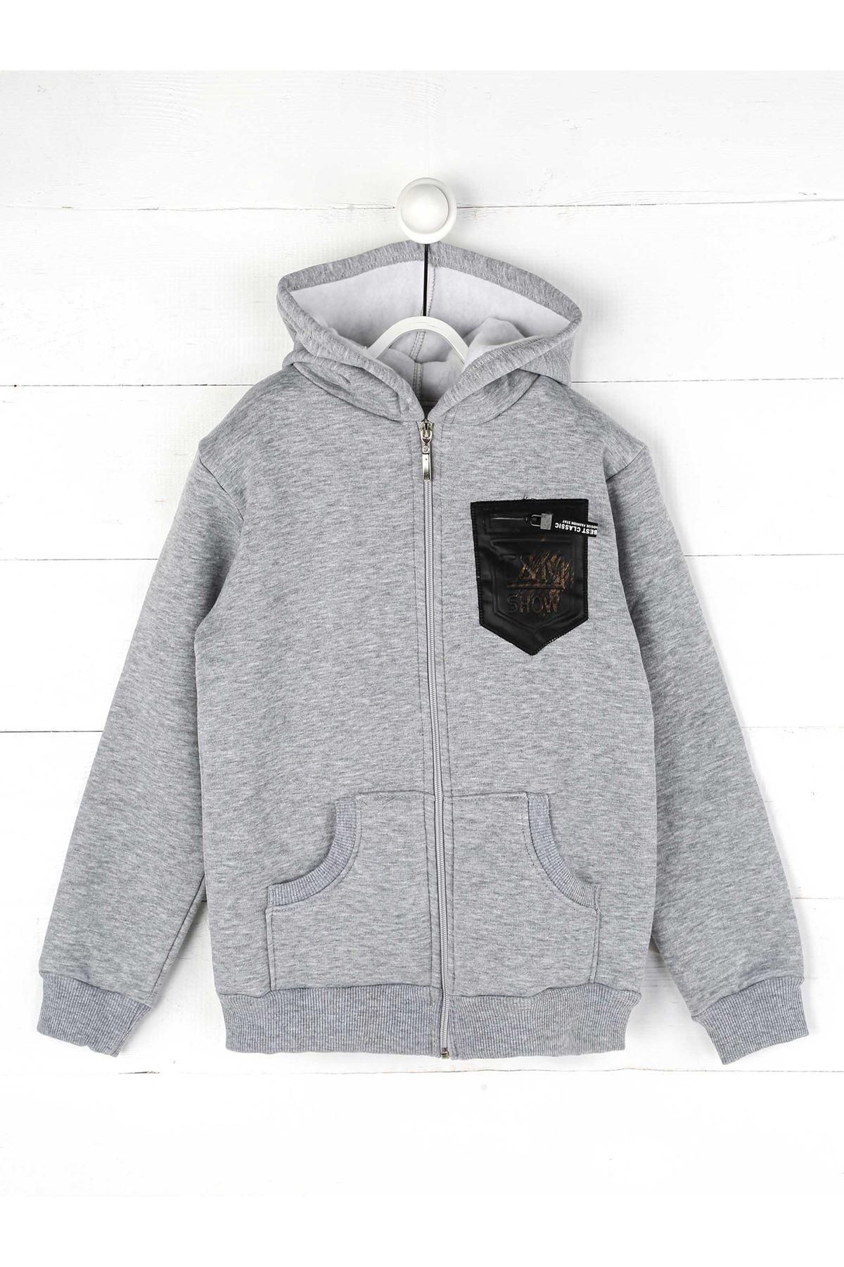 Gray Winter Male Child Sweatshirt
