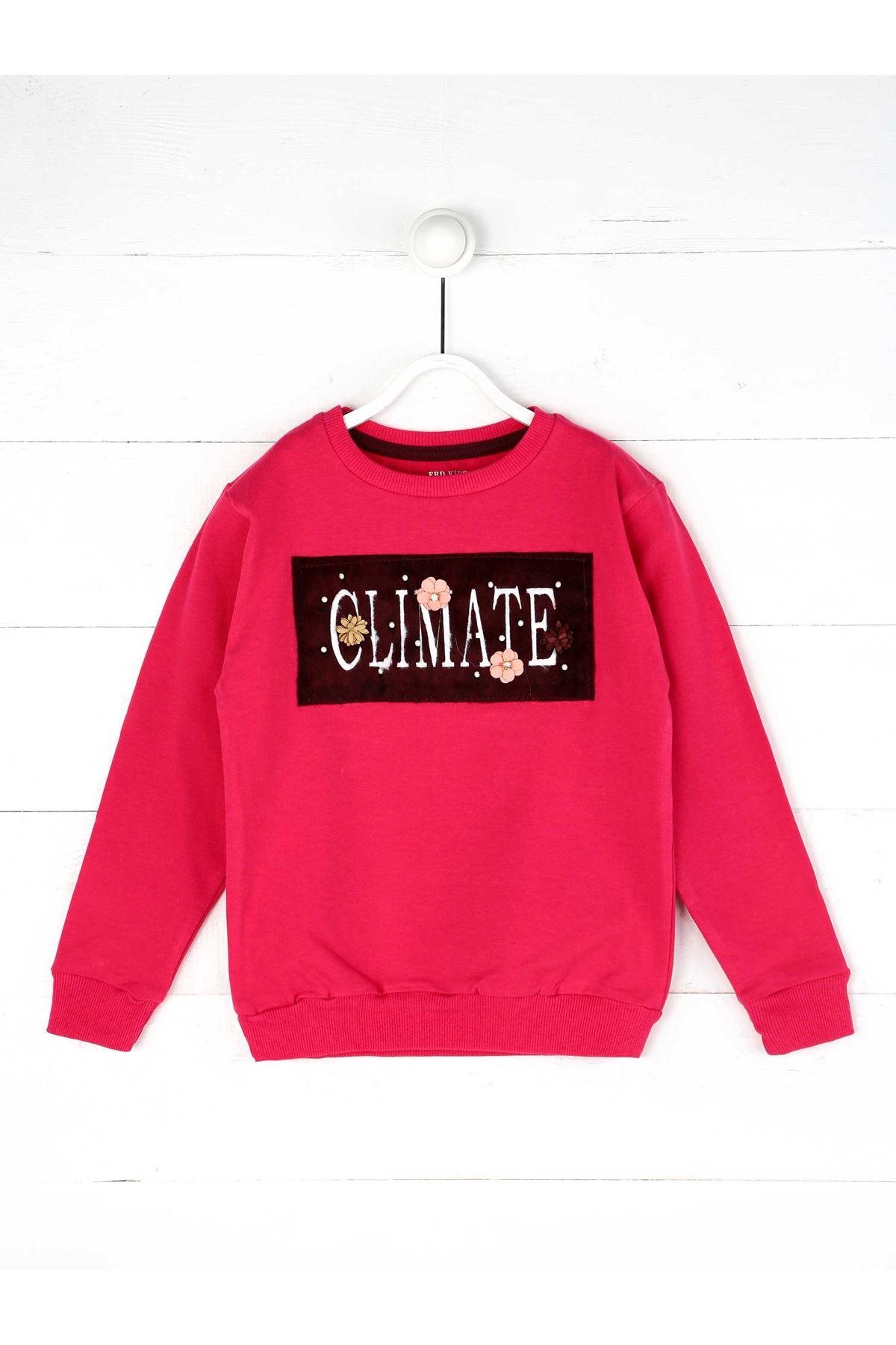 Fuchsia Seasonal Girl Child Sweatshirt