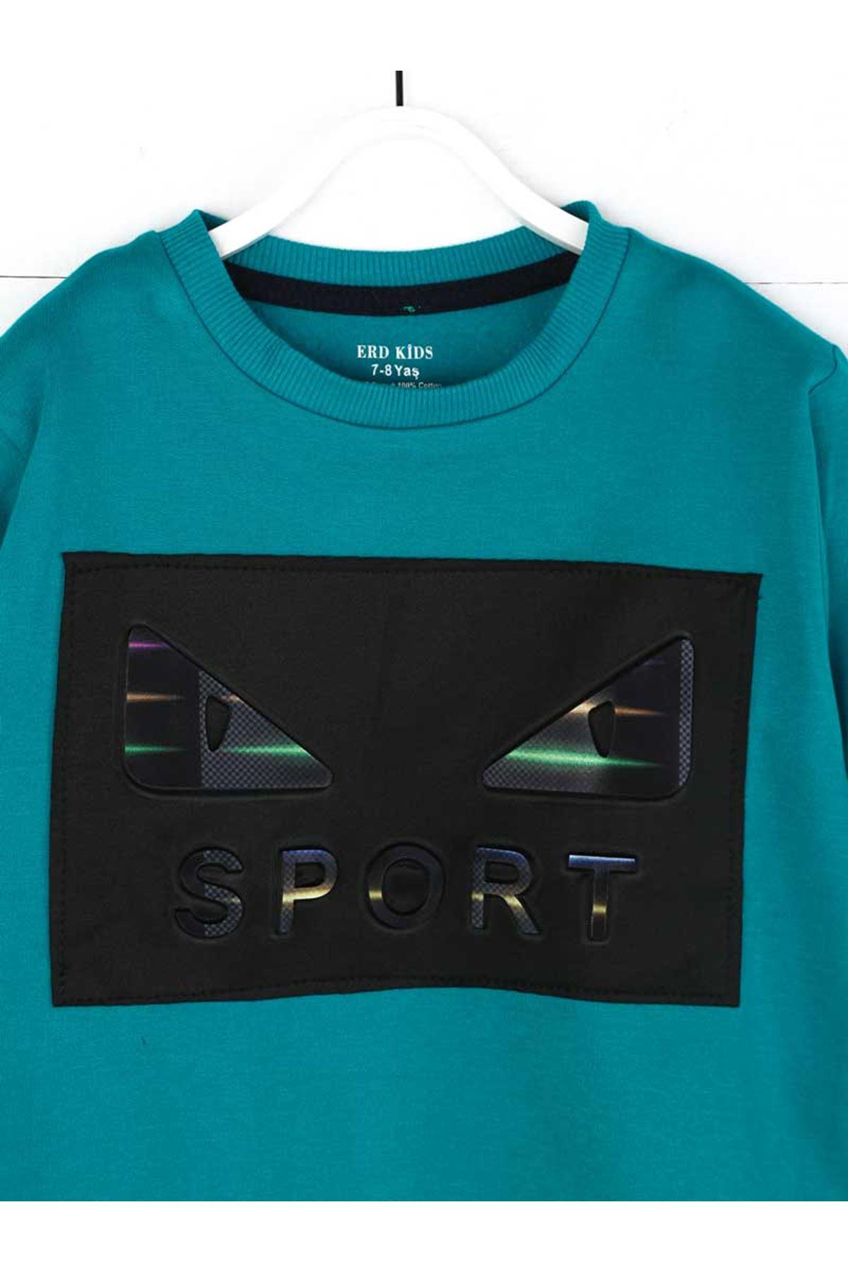 Oil Green Seasonal Male Child Sweatshirt