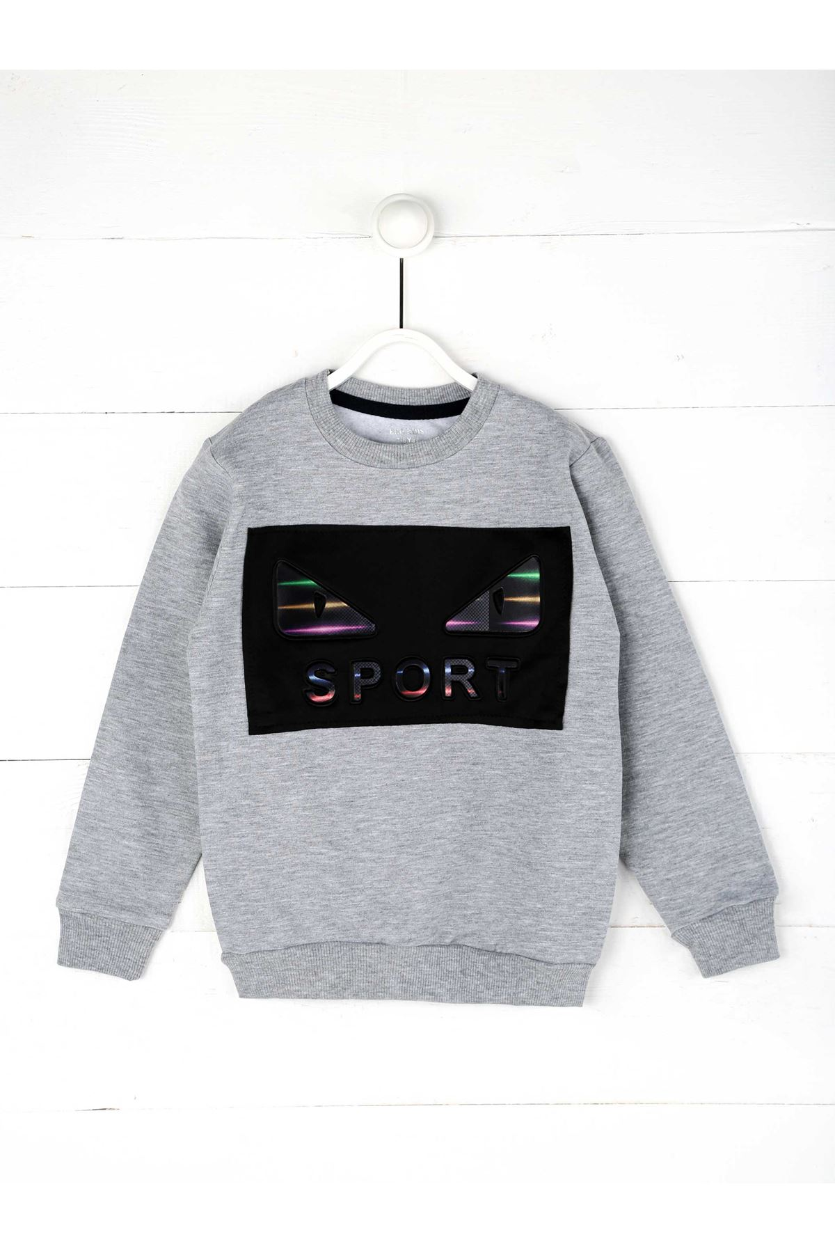 Gray Seasonal Male Child Sweatshirt
