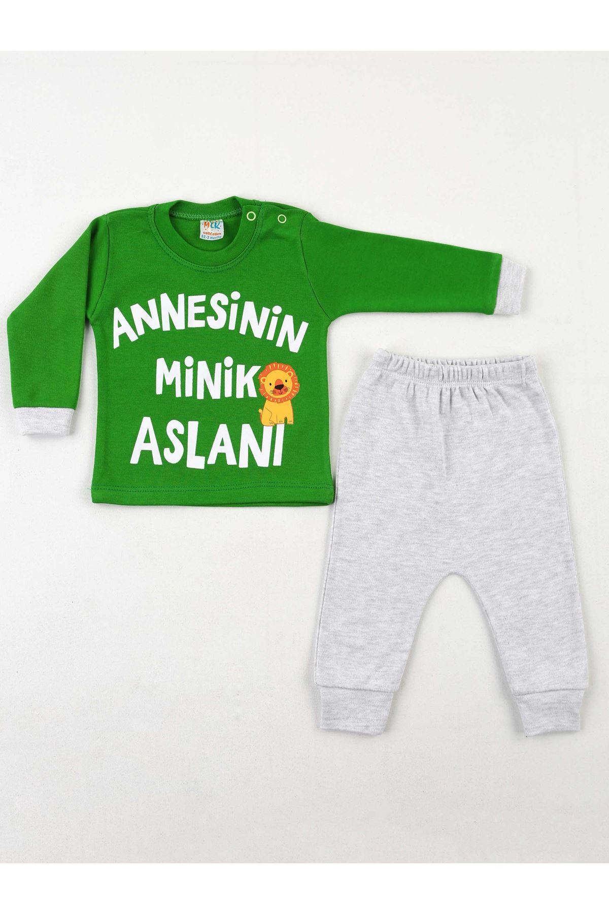Yeşil Gri Erkek Bebek 2 li Takım