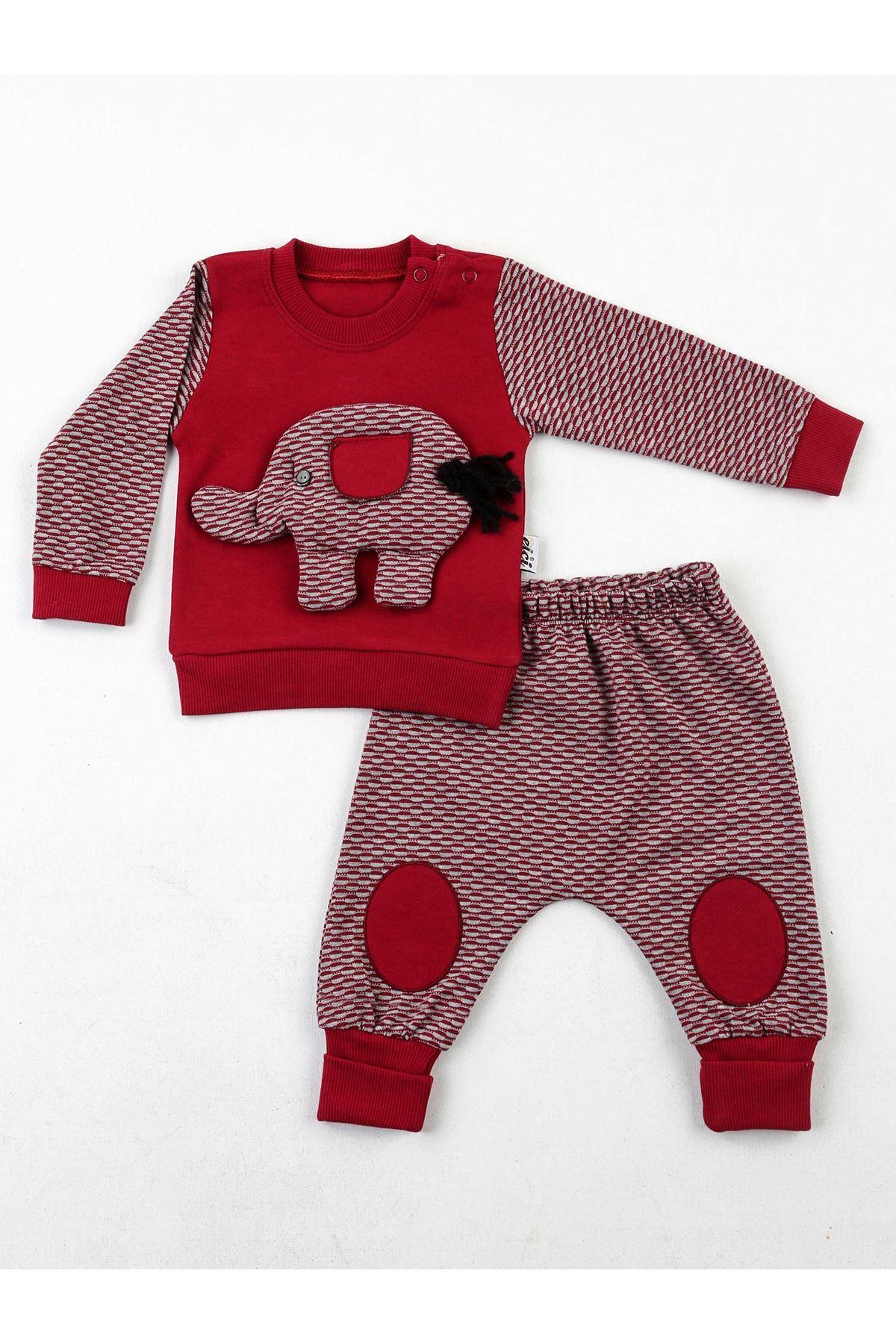 Bordo Erkek Bebek 2 li Takım