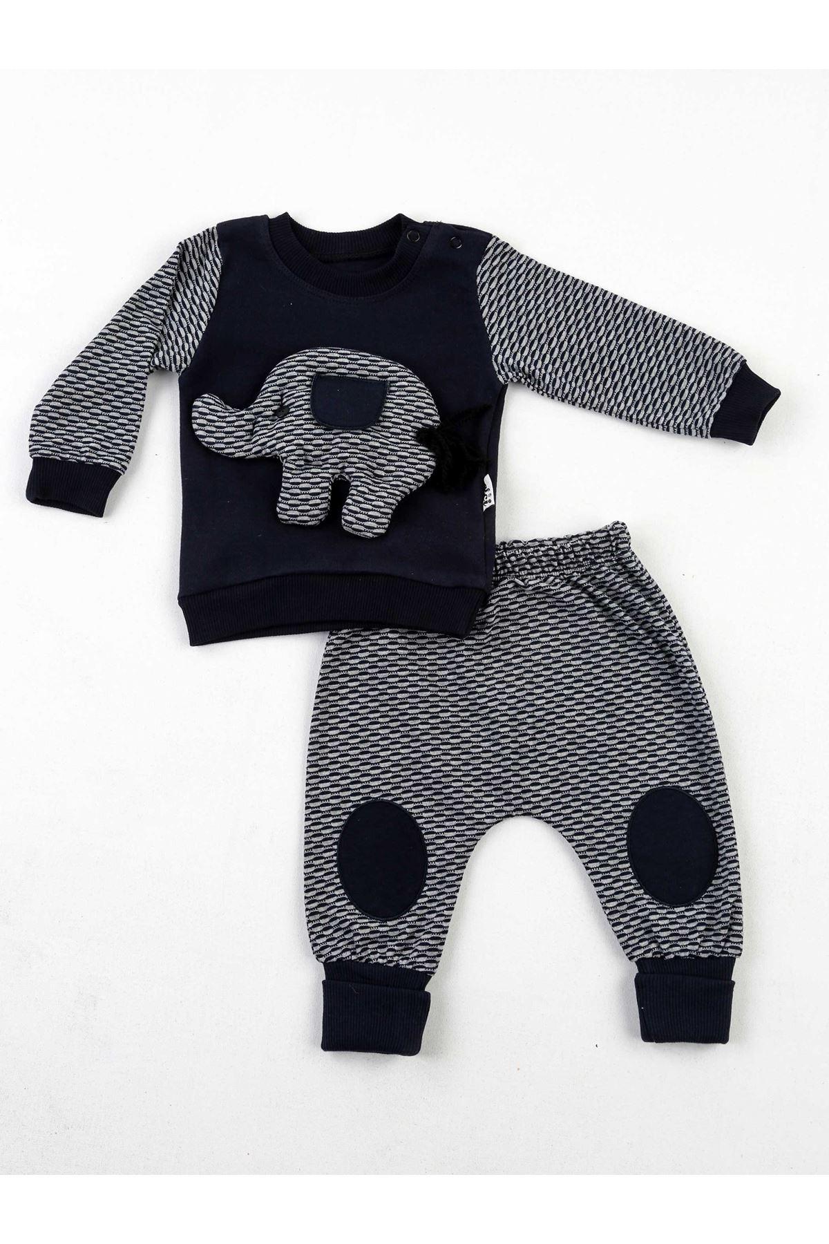 Lacivert Erkek Bebek 2 li Takım