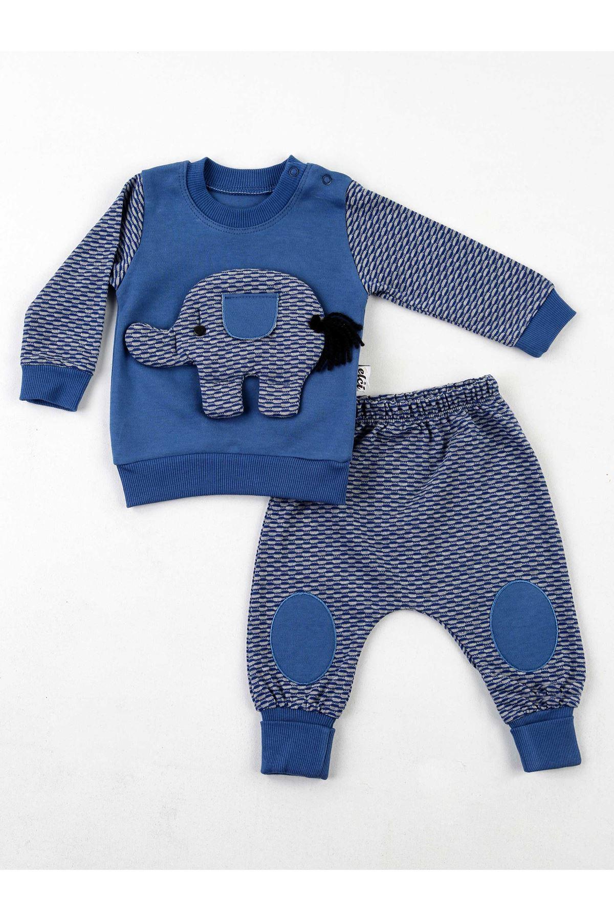İndigo Erkek Bebek 2 li Takım