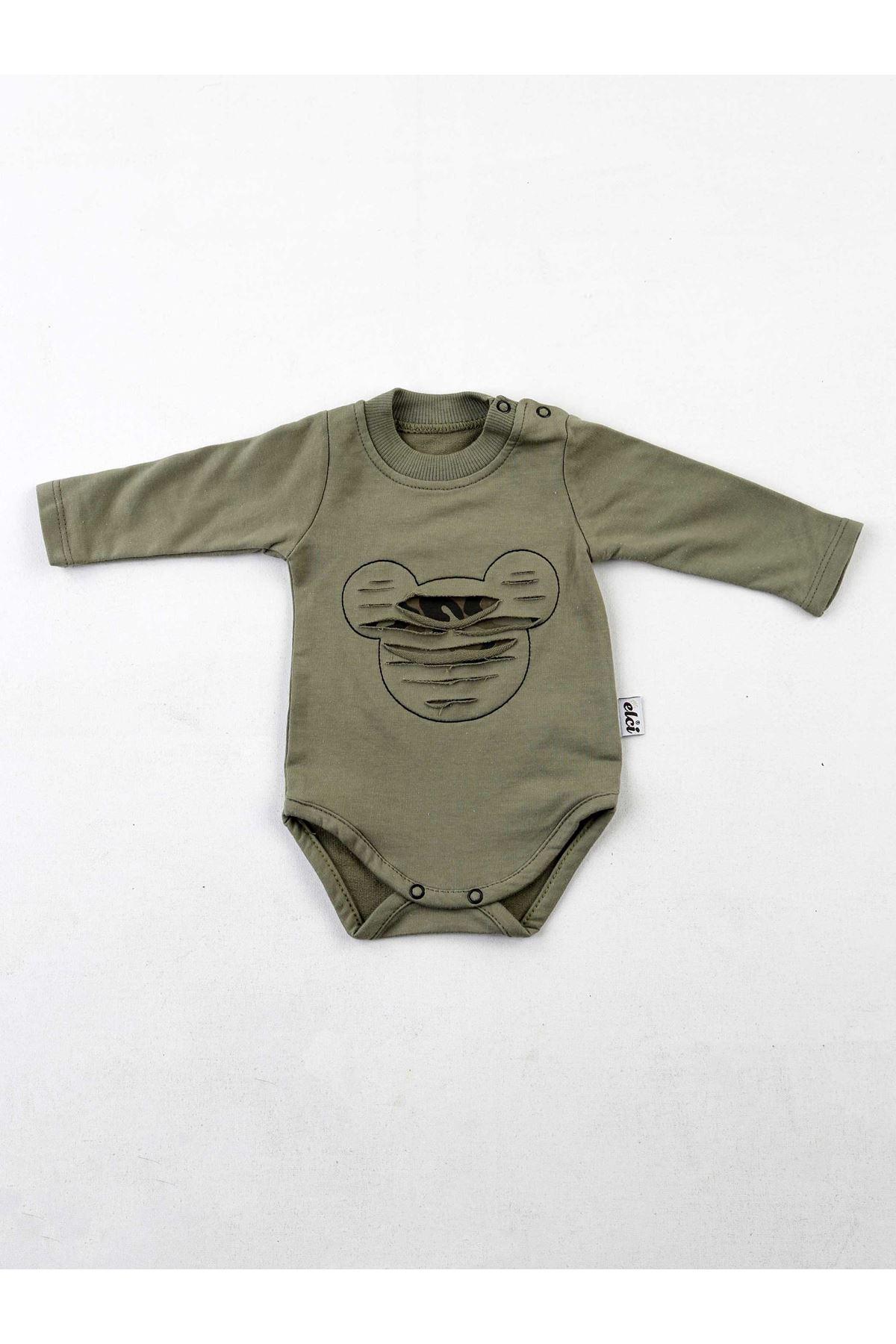 Haki Kamuflaj Erkek Bebek 3 lü Takım