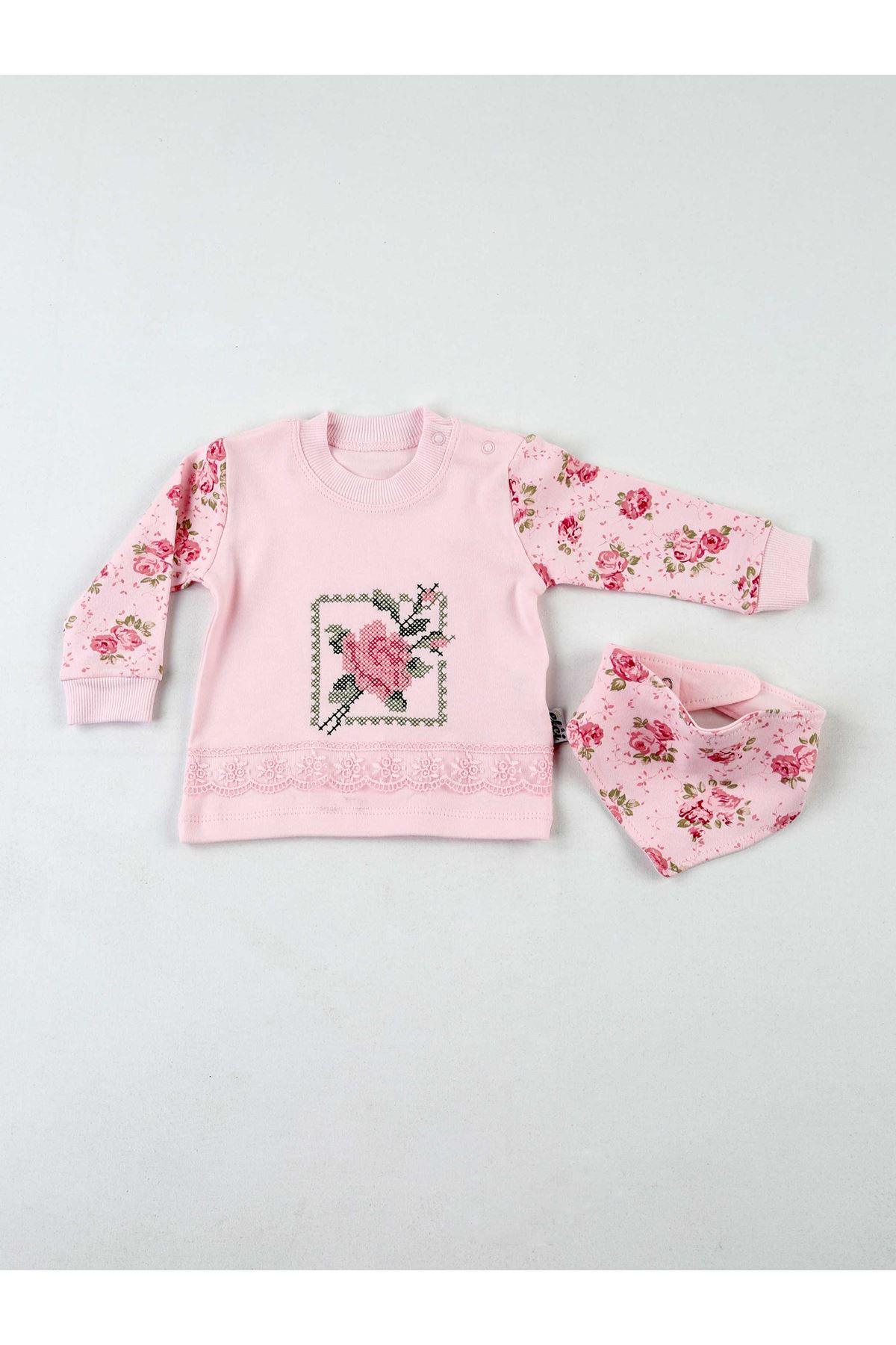 Pembe Mevsimlik Kız Bebek 3 lü Takım