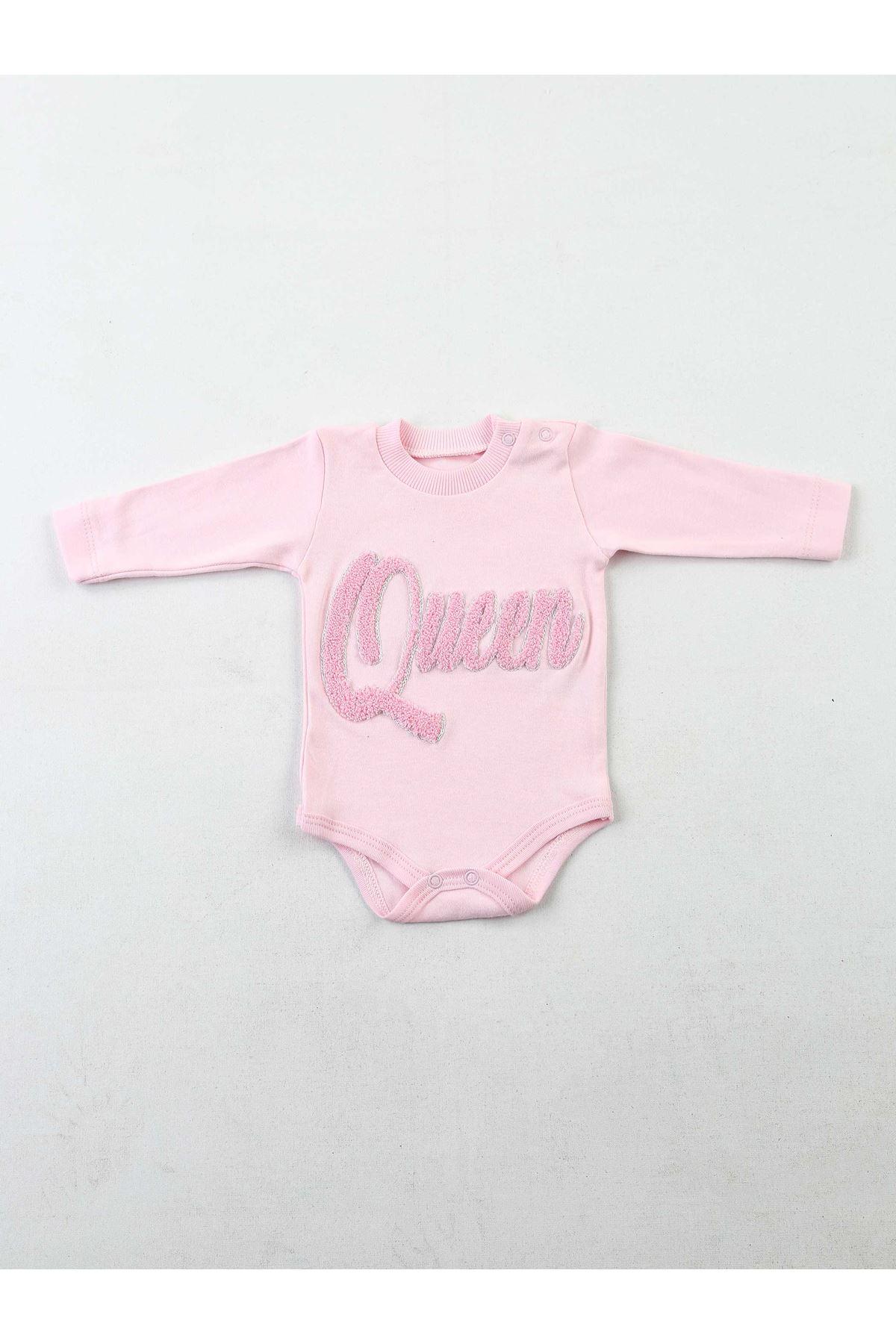 Pembe Bebek Mevsimlik Kız Bebek 3 lü Takım
