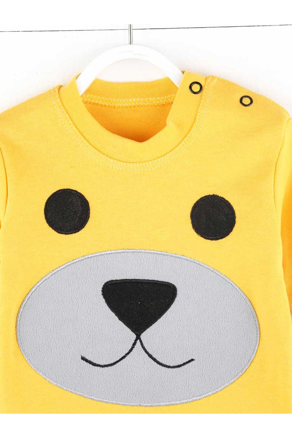 Sarı Mevsimlik Erkek Bebek 2 li Takım