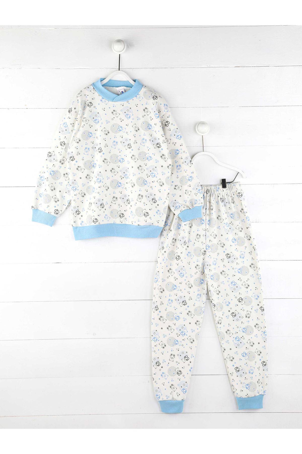 Mavi Erkek Çocuk Pijama Takım