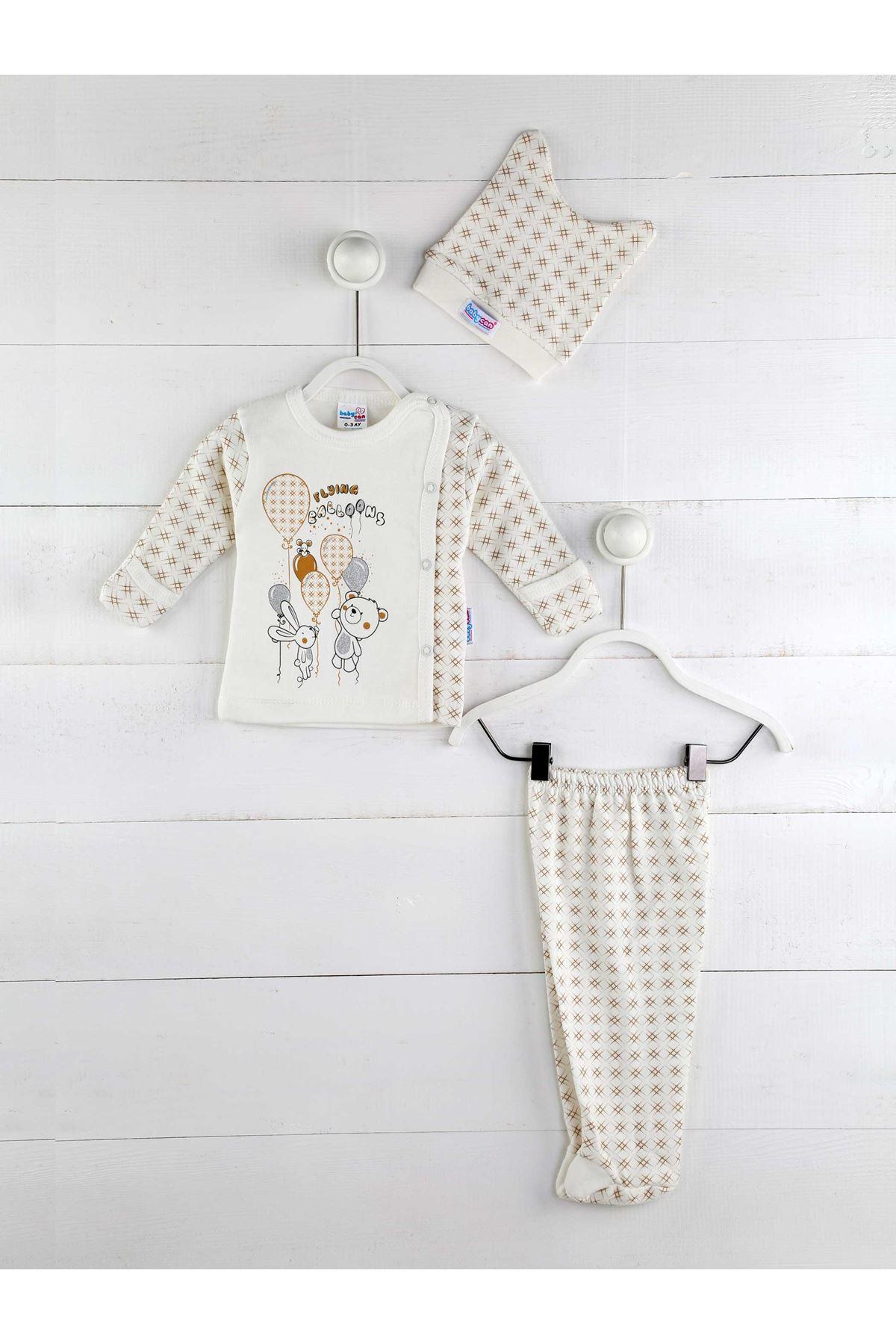 Kahverengi Erkek Bebek 3 lü Zıbın Takım