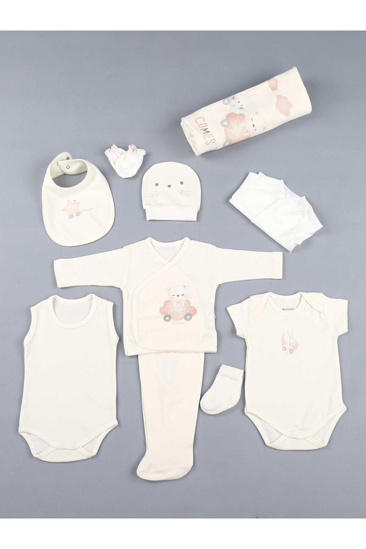 Pembe 10 lu Kız Bebek Hastane Çıkışı