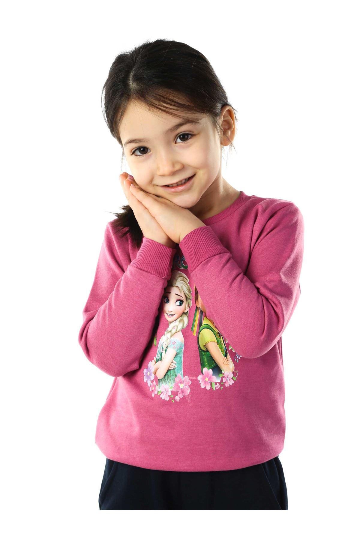 Mor Lacivert Kız Çocuk 2 li Takım