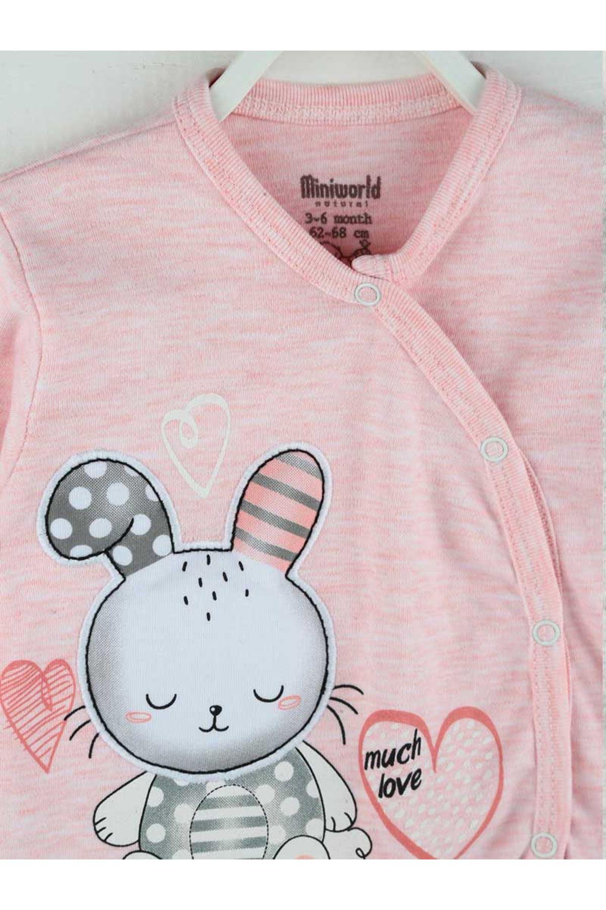 Pembe Mevsimlik Kız Bebek 3 lü Zıbın Takım