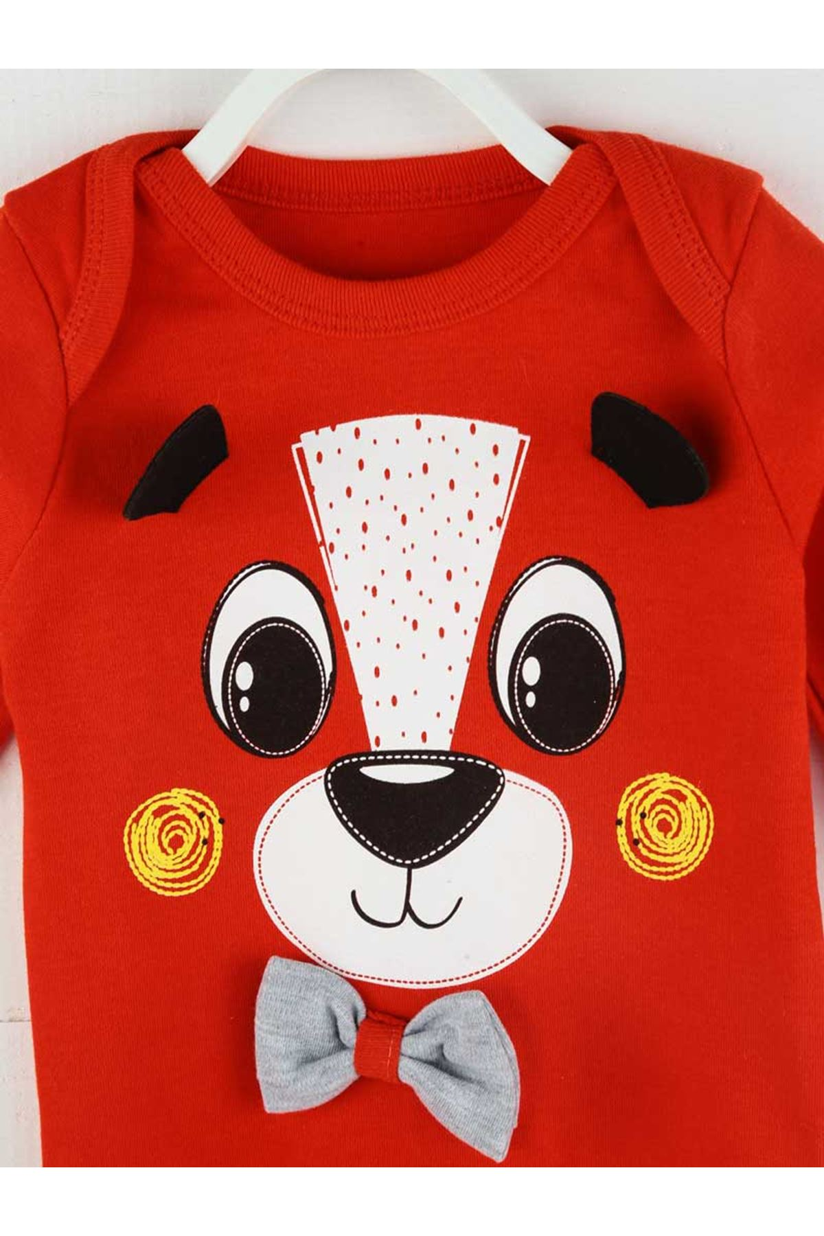 Kırmızı Mevsimlik Erkek Bebek 3 lü Takım