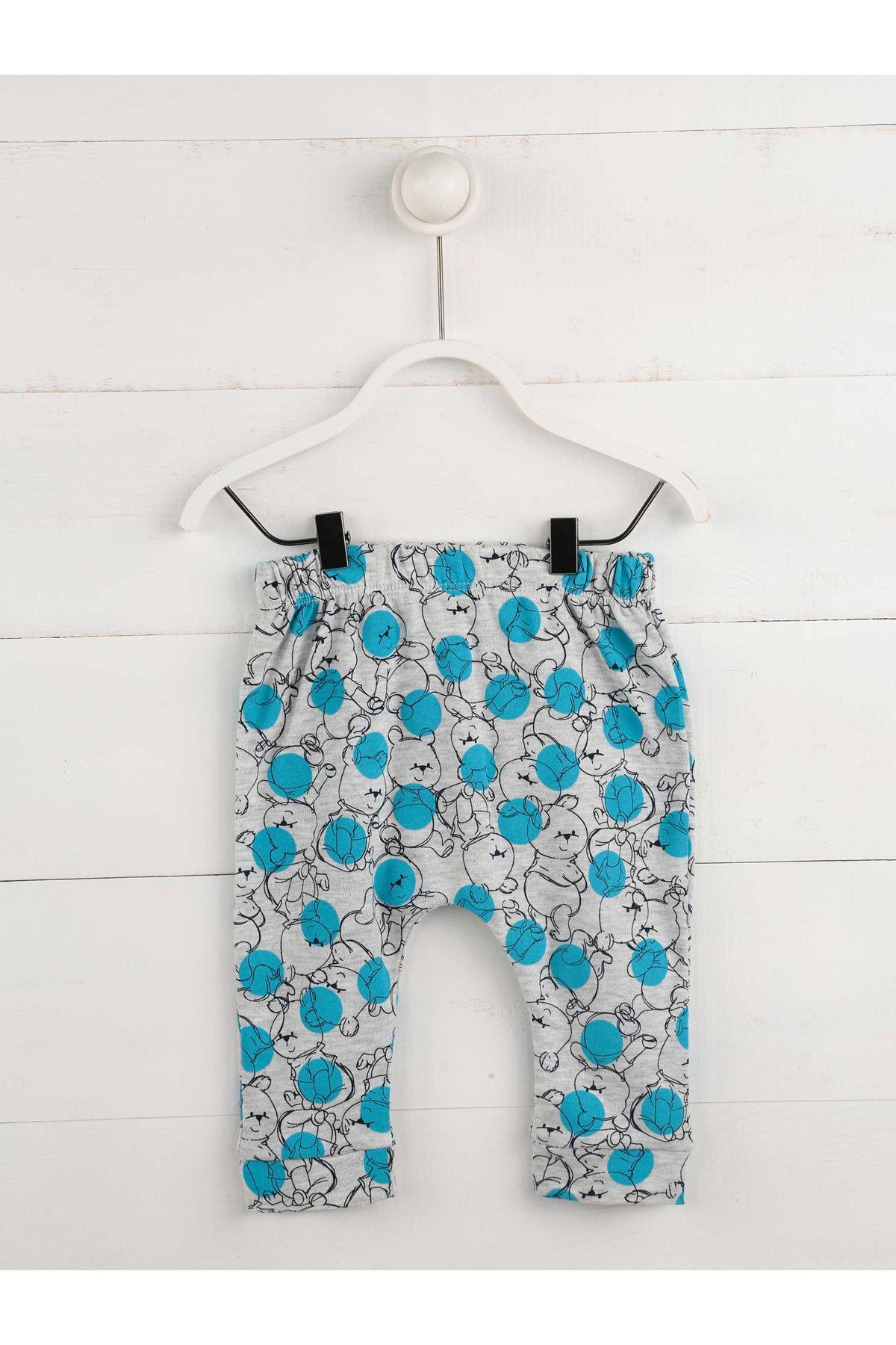 Mavi Mevsimlik Erkek Bebek 3 lü Takım