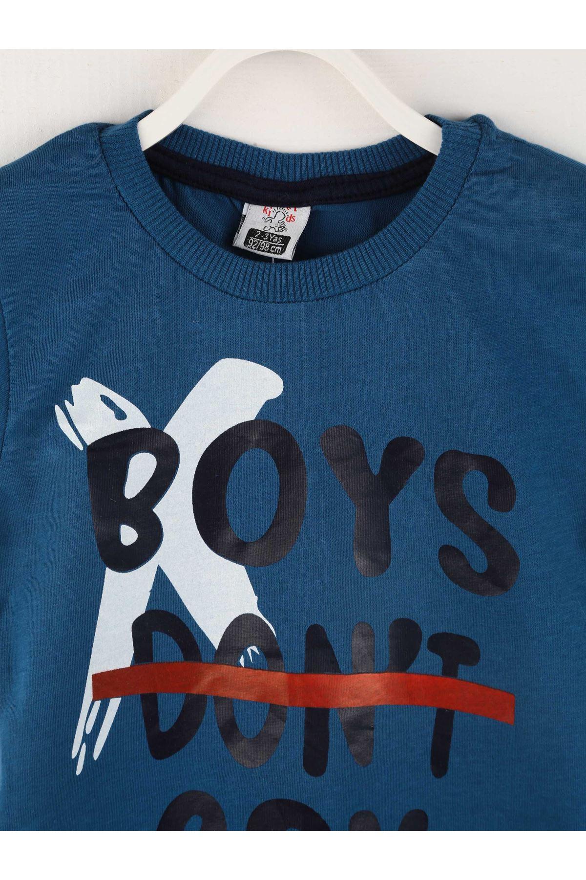 İndigo Yazlık Erkek Çocuk Şortlu Takım