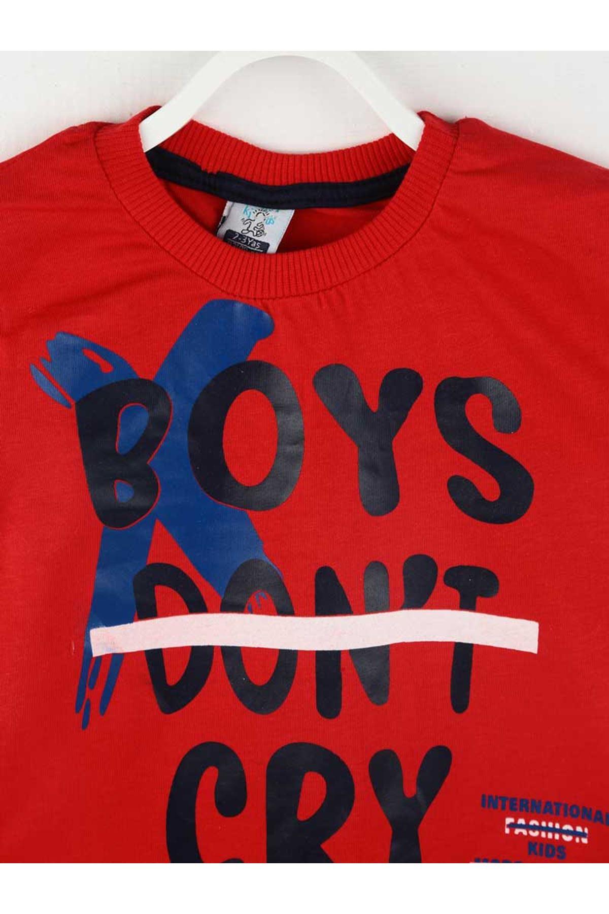 Kırmızı Yazlık Erkek Çocuk Şortlu Takım