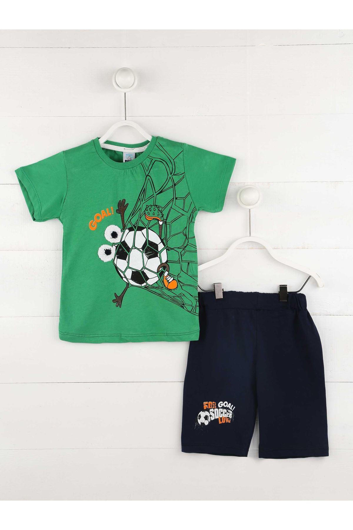 Yeşil Yazlık Erkek Çocuk 2 li Takım