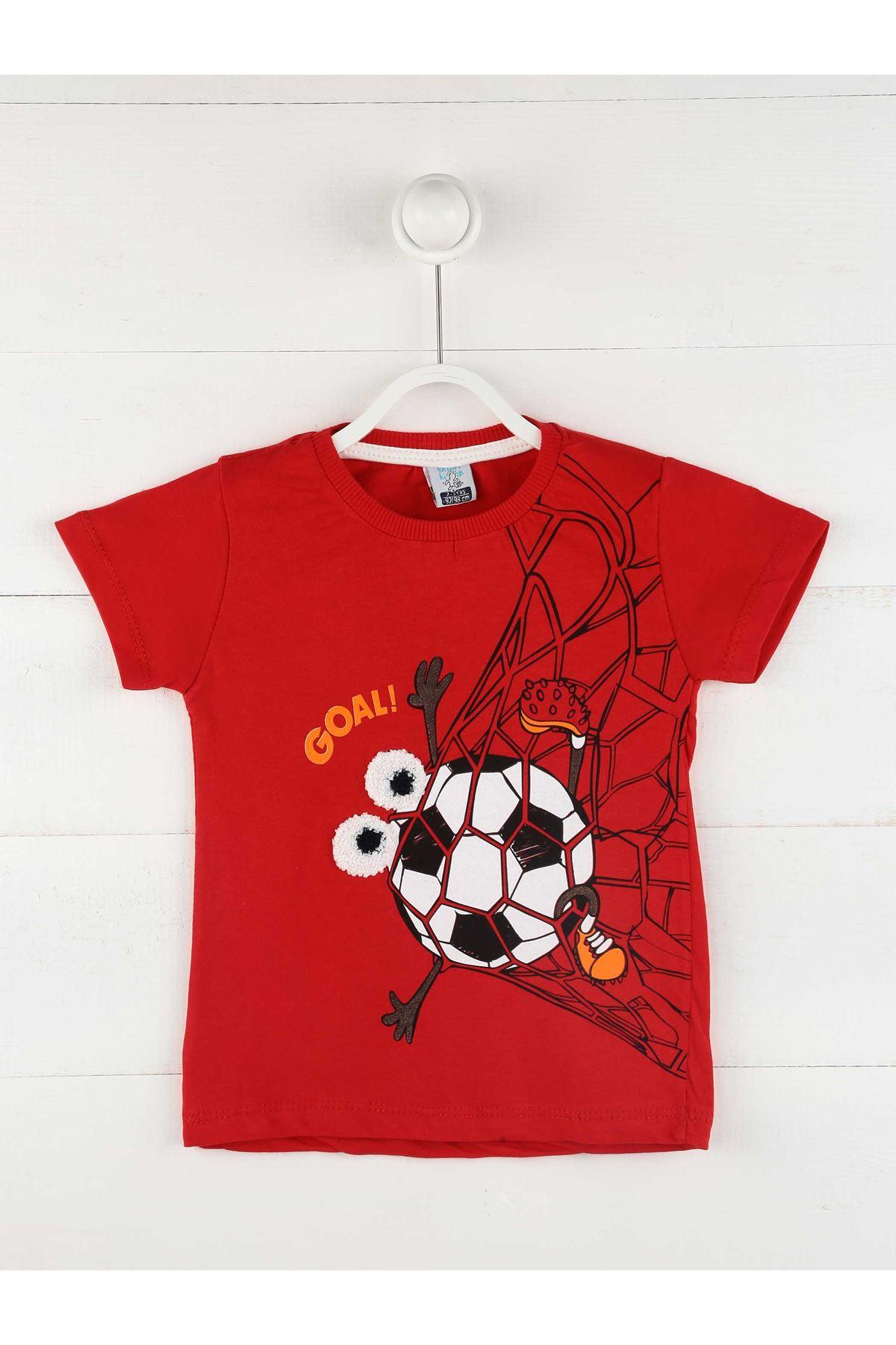 Kırmızı Yazlık Erkek Çocuk 2 li Takım