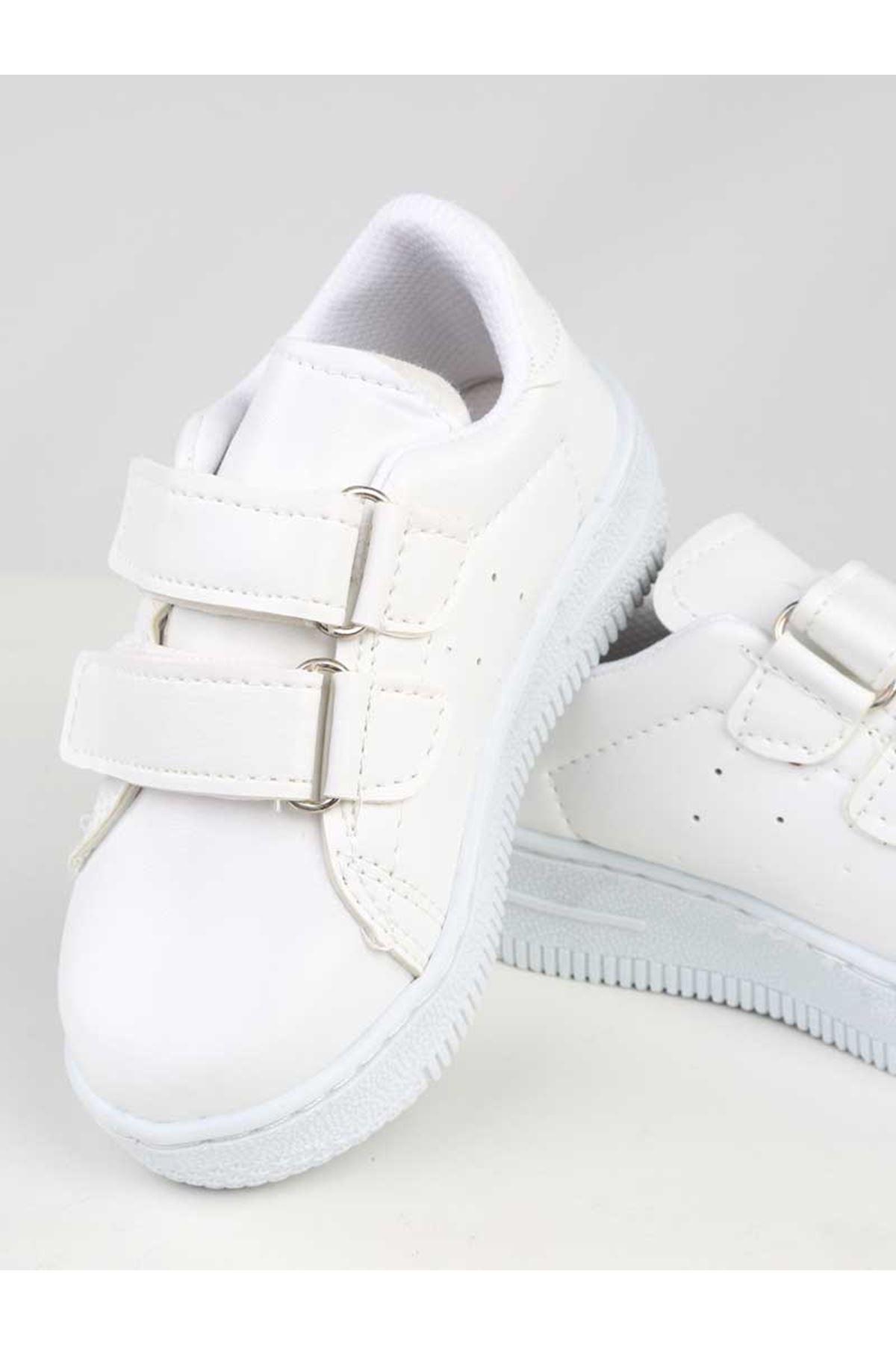 Beyaz Suni Deri Çocuk Spor Ayakkabı