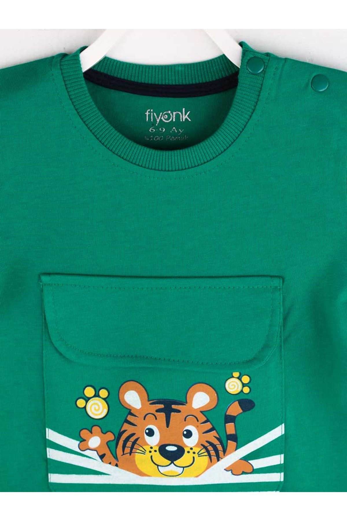 Yeşil Yazlık Erkek Bebek Şortlu Takım