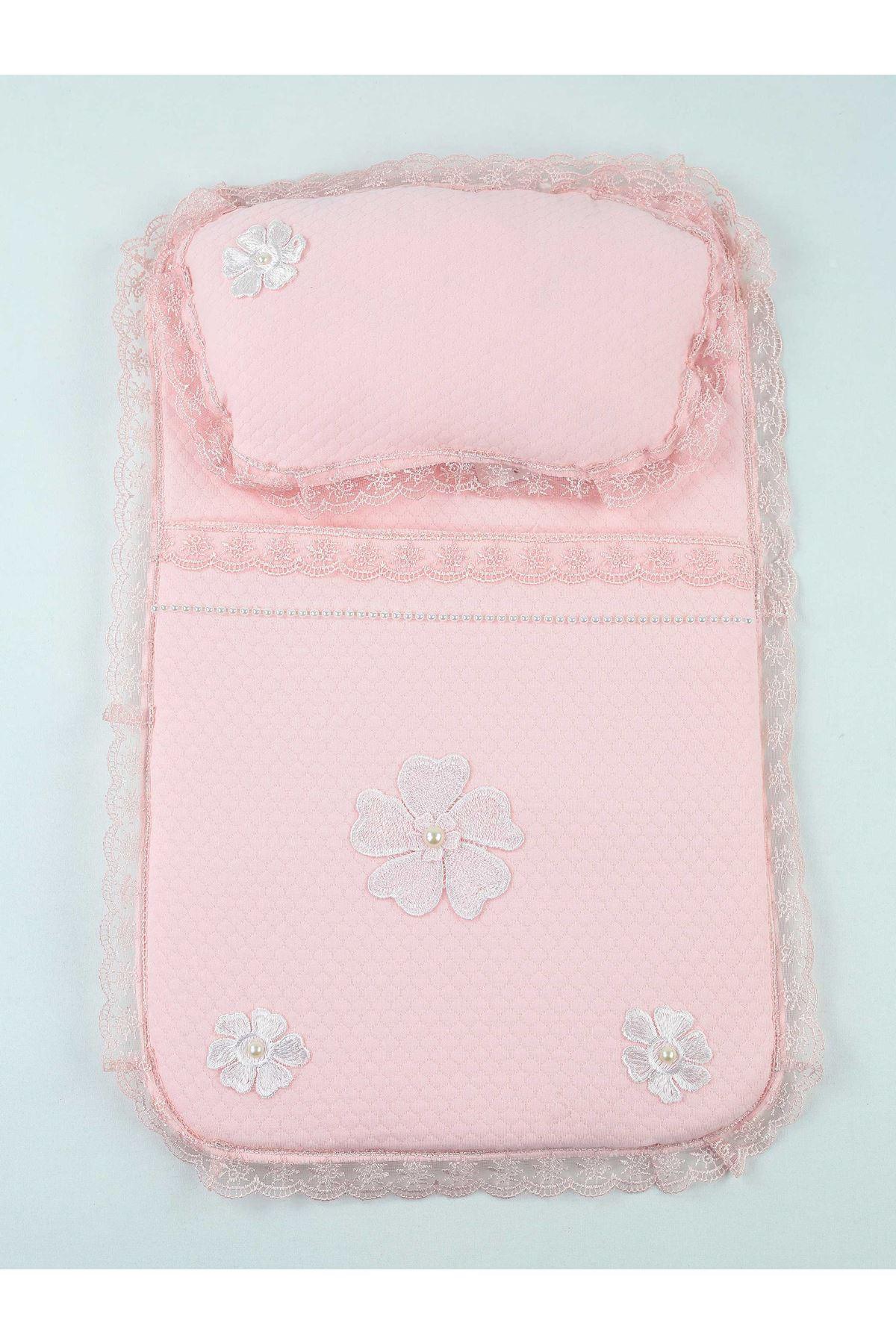 Pink Girl Baby Swaddle Bottom Opening