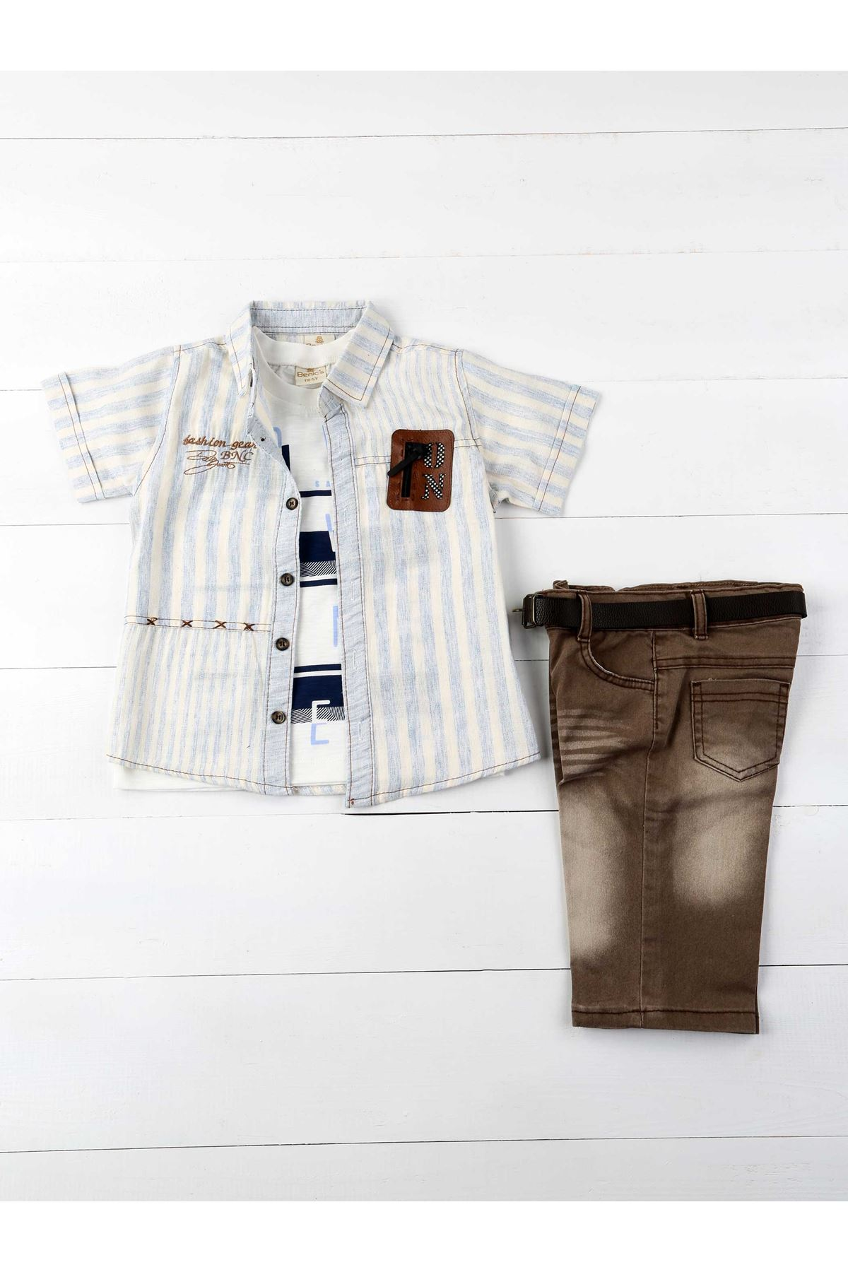 Blue Cream Male Child 4-Piece Set