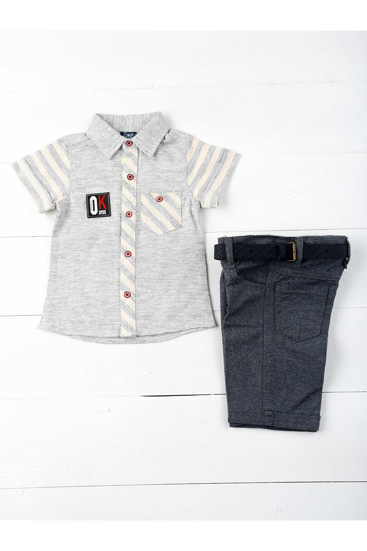 Gri Erkek  Çocuk Takım Elbise