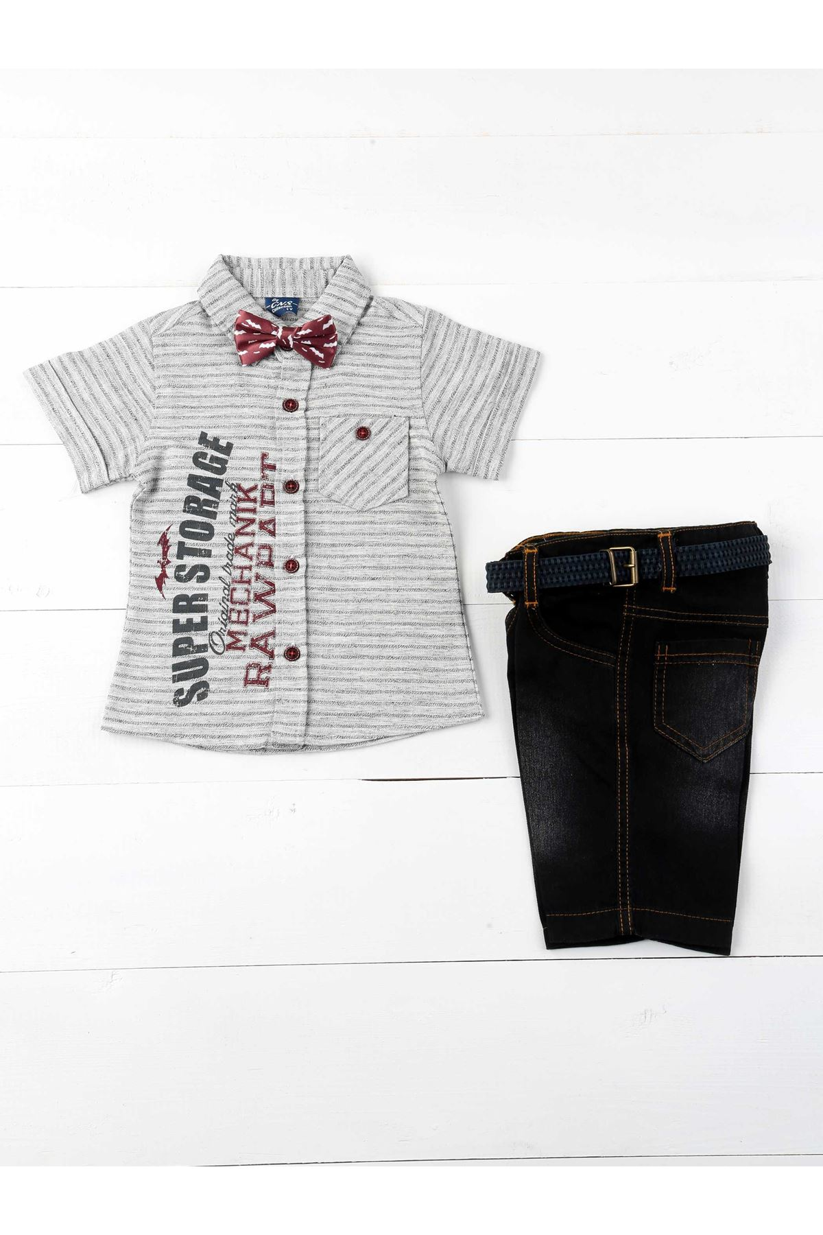 Gray Male Child 4 Piece Set