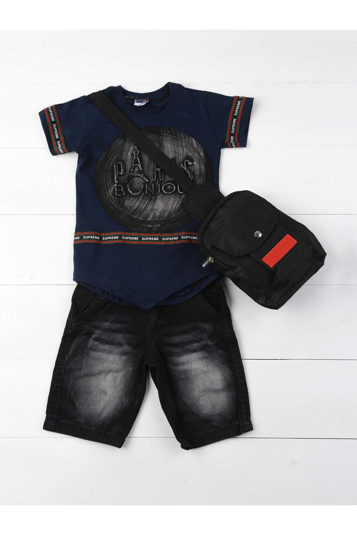 Navy blue Male Child 3 Pcs Set