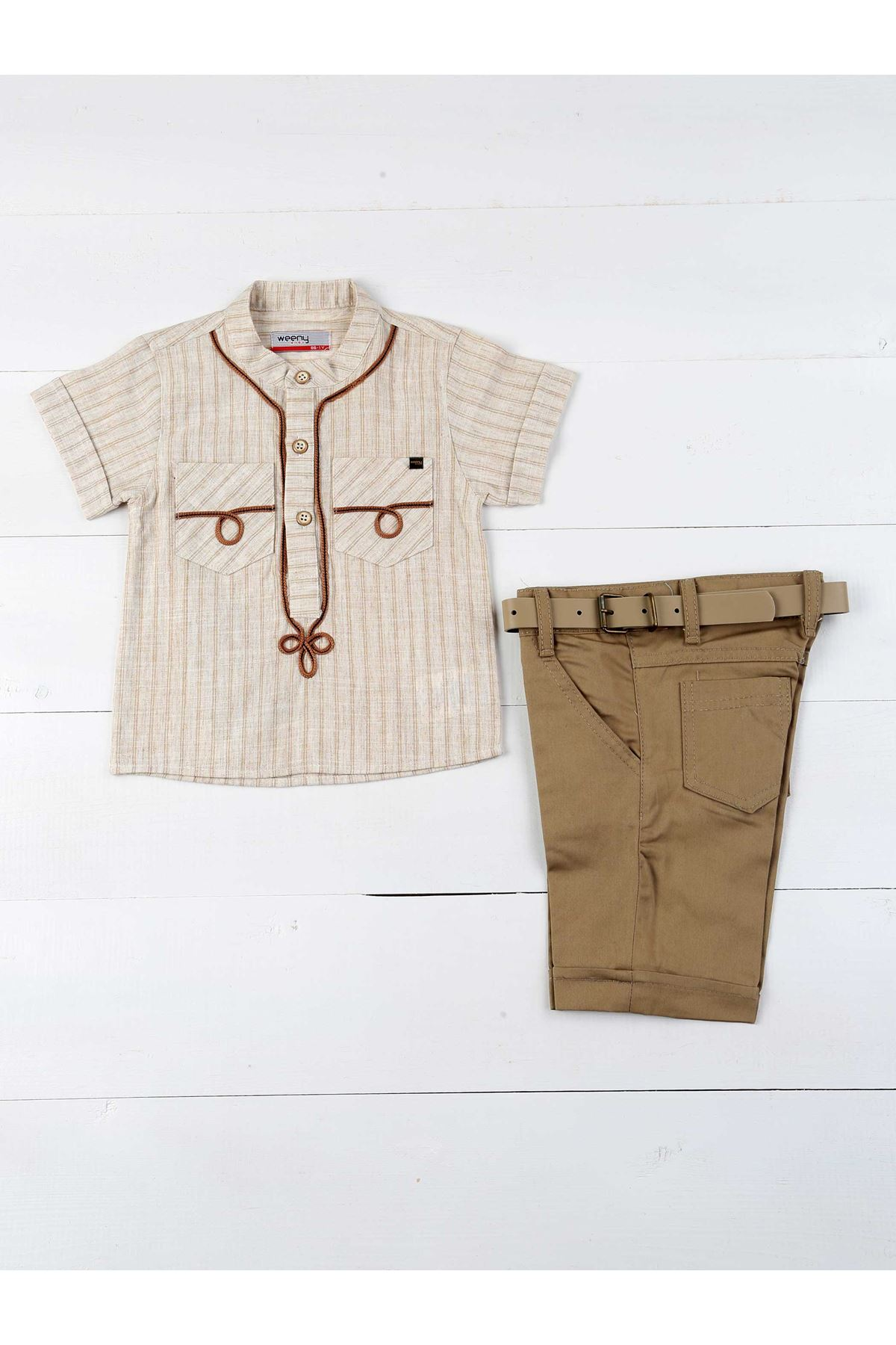 Light Brown Boy's 3-Piece Set
